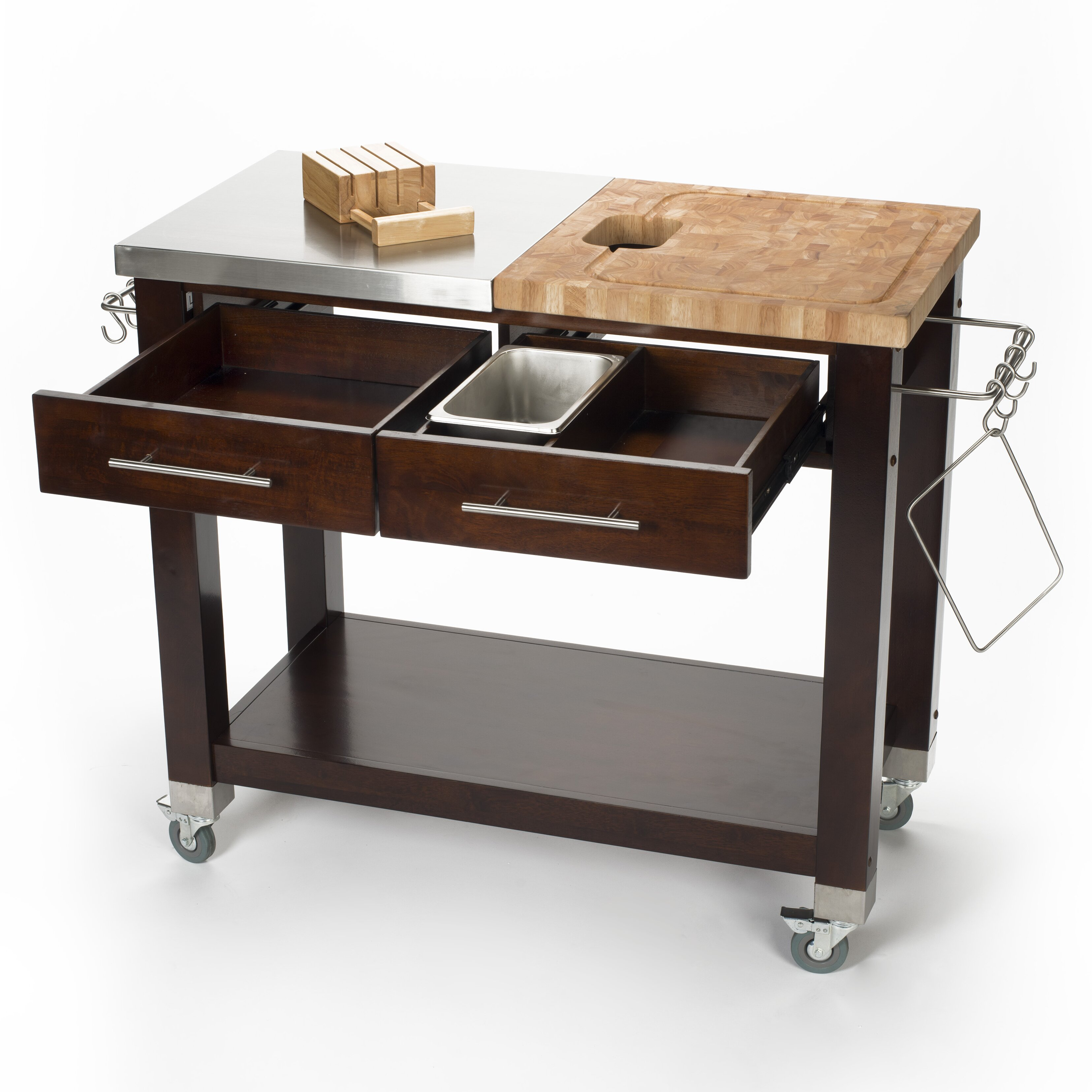 Chris & Chris Pro Chef Kitchen Island with Butcher Block Top & Reviews Wayfair