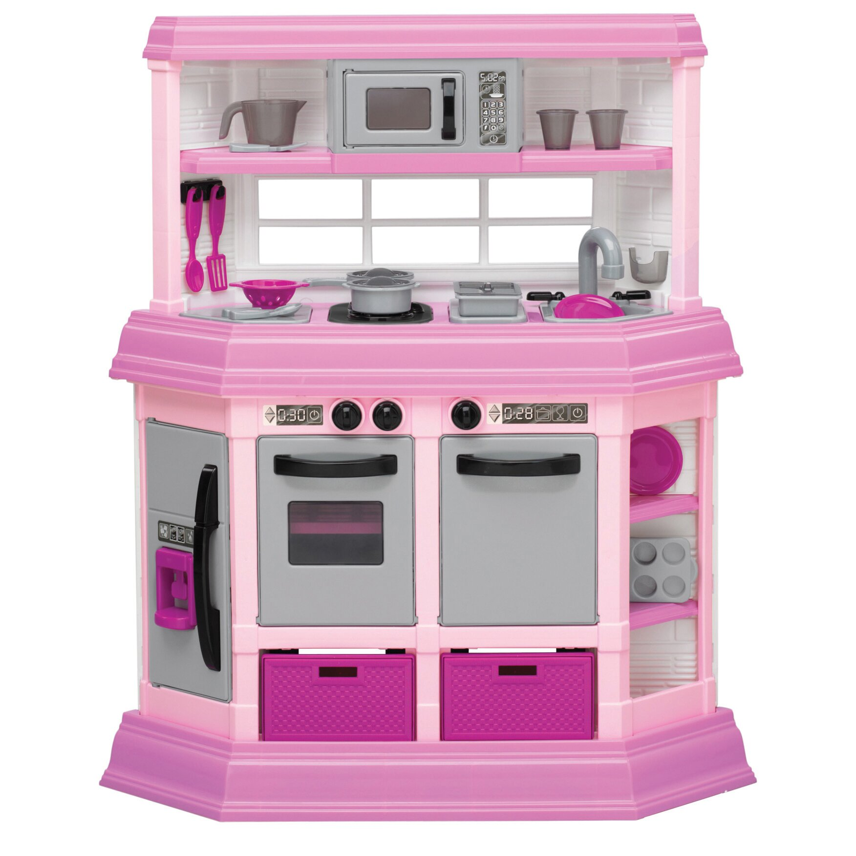 Play Kitchen American Plastic Toys 22 Piece Cook And Play Kitchen Set Reviews