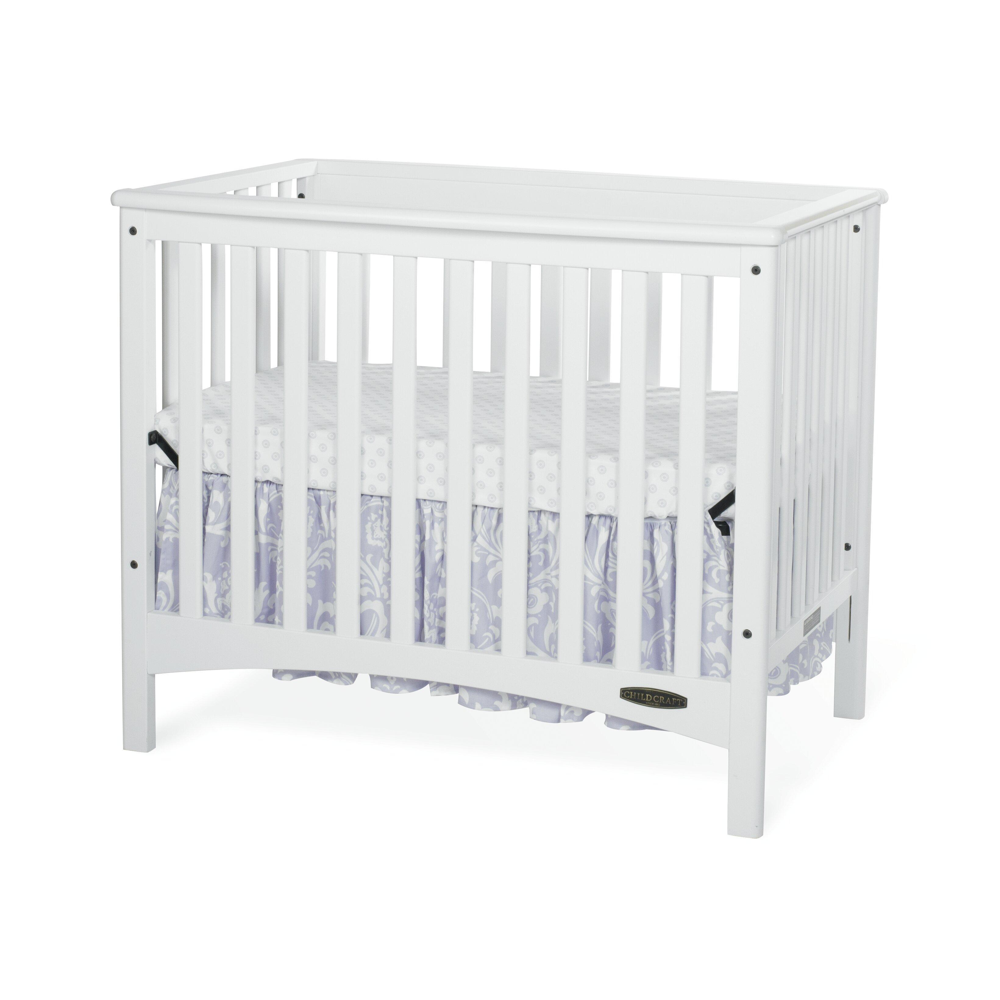 Evacuation crib for sale - Child Craft London Euro Mini Convertible Crib With Mattress