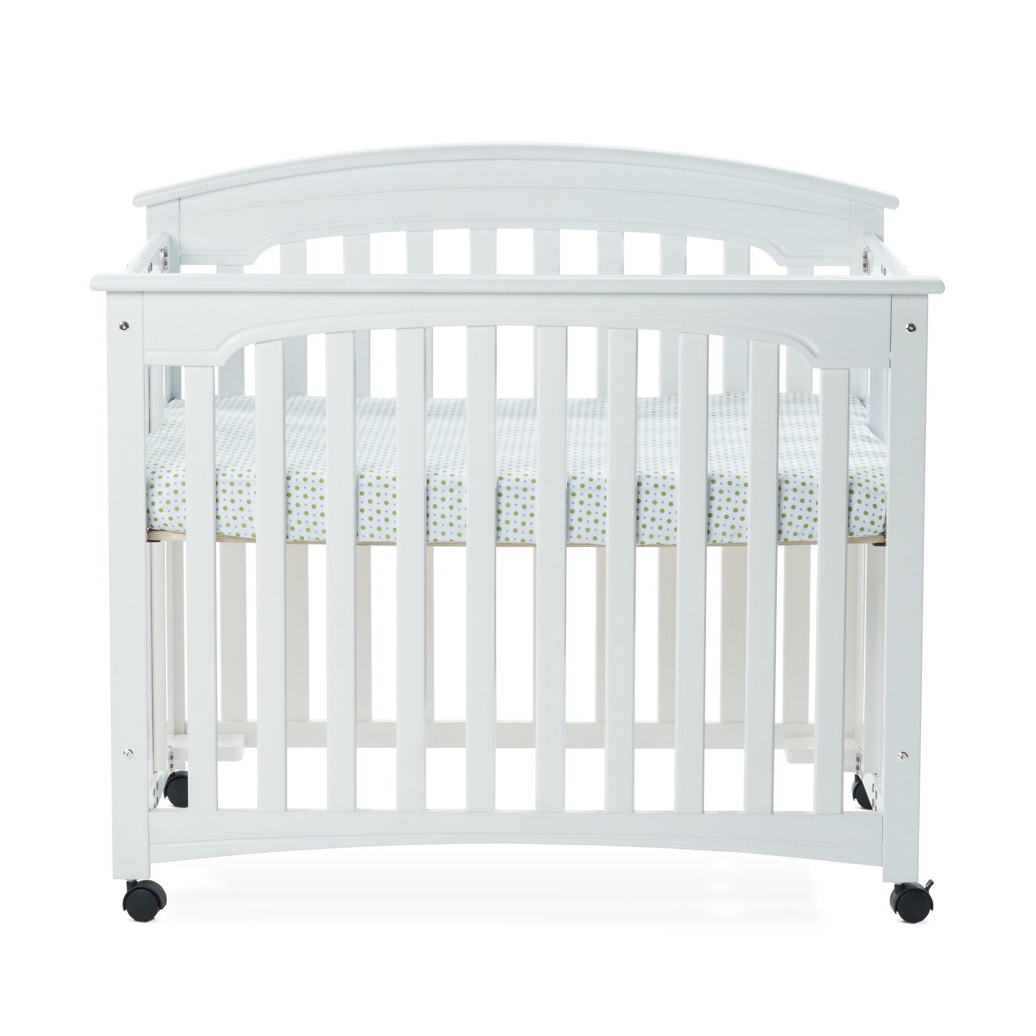 Baby crib mattress dimensions - Child Craft Stanford Mini Folding Crib With Mattress