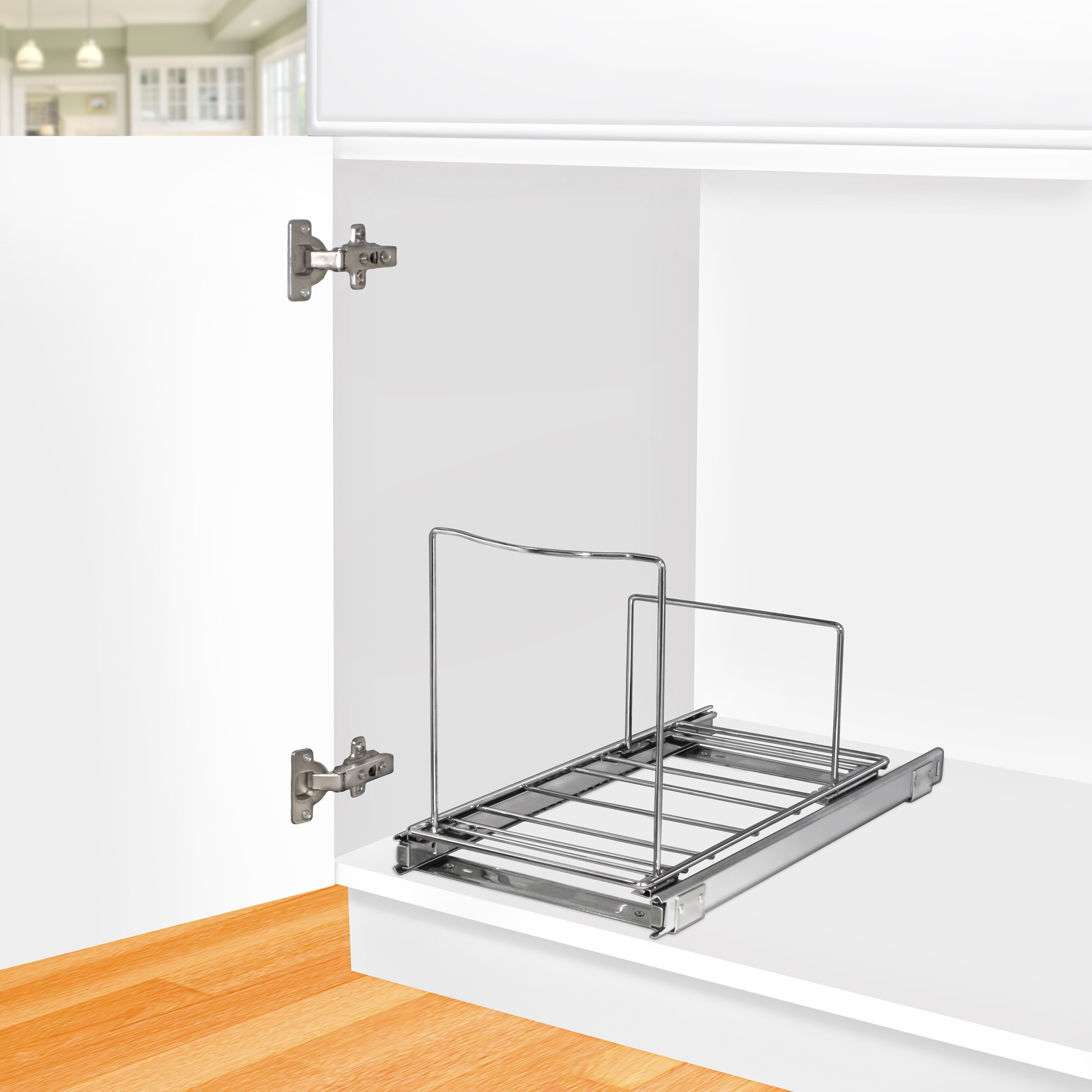 Lynk roll out under sink cabinet organizer pull out two tier sliding - Cabinet Anizers You Ll Love Wayfair Lynk Professional Roll Out Cabinet Anizer Pull Under Sliding