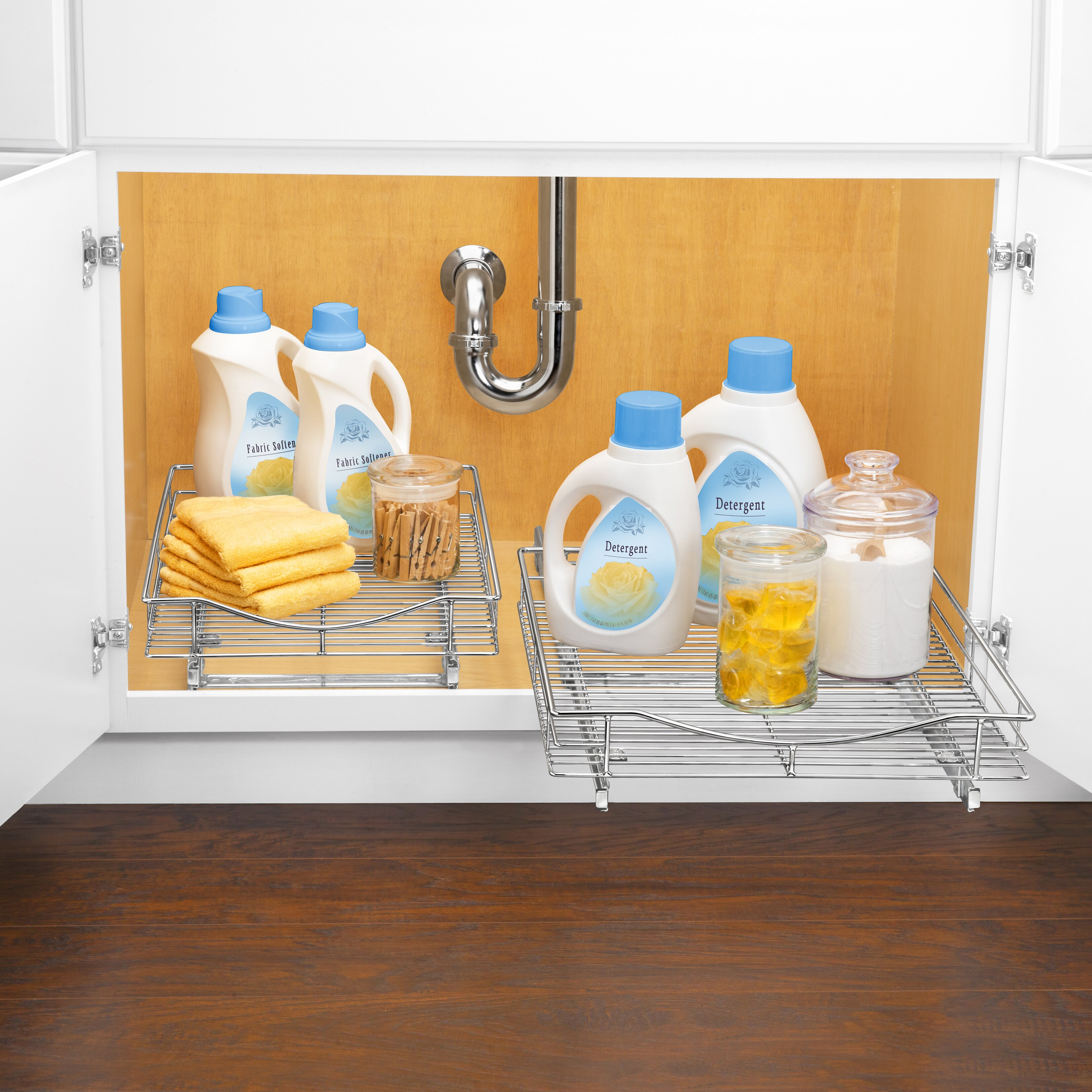 Bathroom Under Cabinet Storage Lynk Lynk Professionalr Roll Out Cabinet Organizer Pull Out