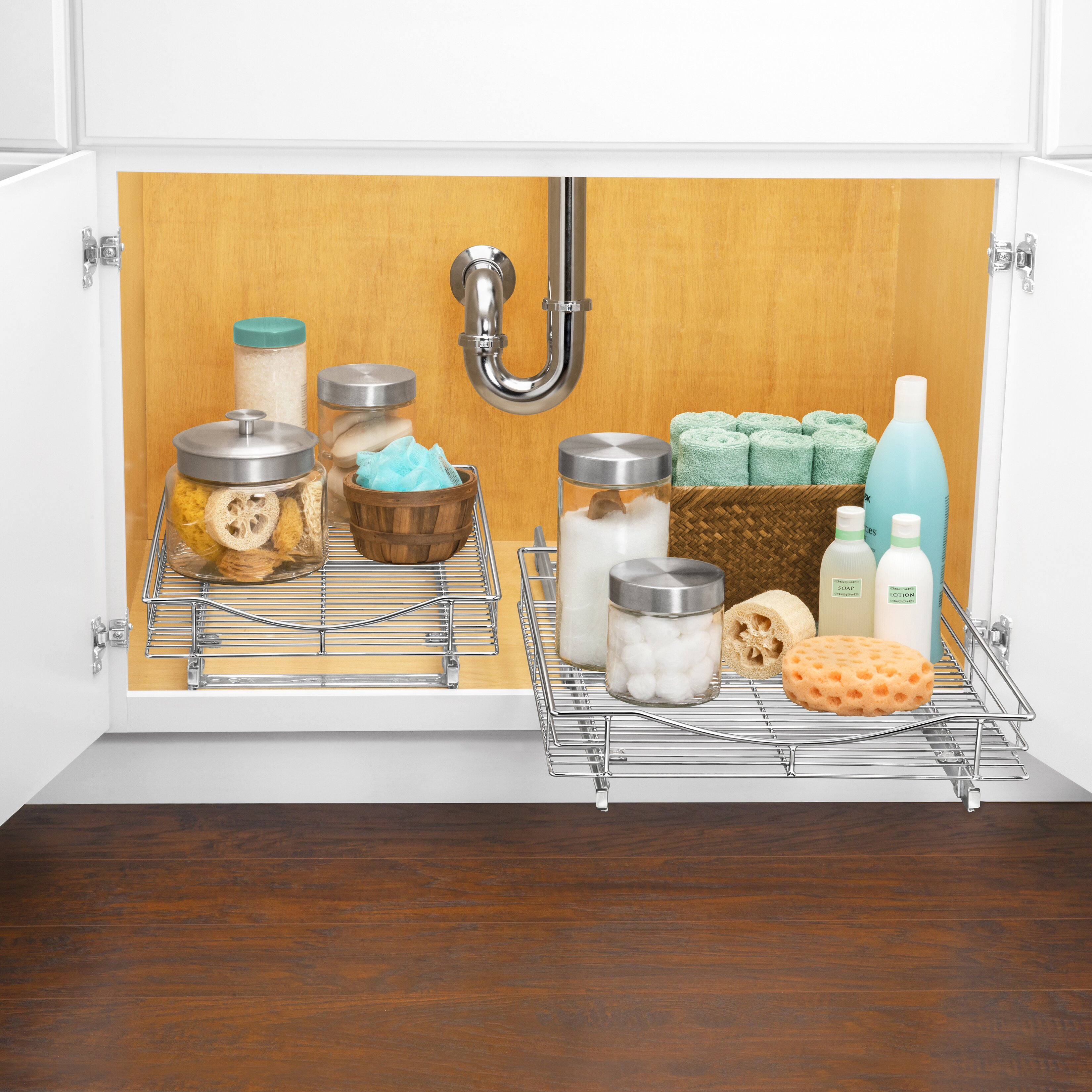 under cabinet shelf lynk roll out cabinet organizer pull out drawer 27527