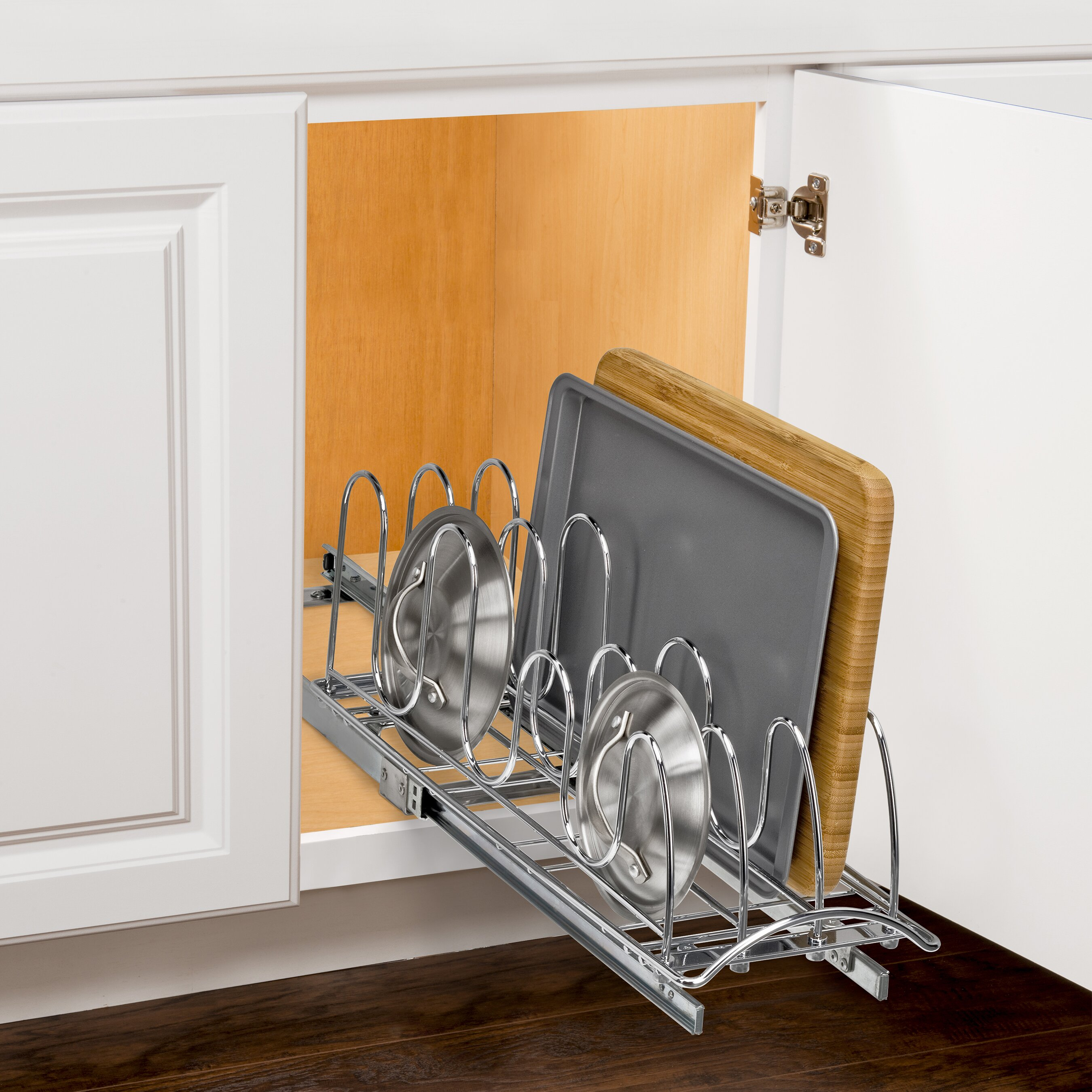Pull Up Kitchen Cabinets Lynk Lynk Professionalr Roll Out Pan Lid Holder Pull Out Kitchen