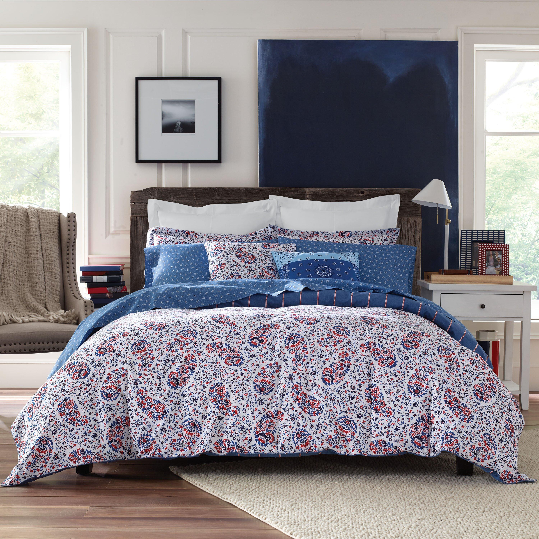 Tommy hilfiger tottenham paisley reversible comforter set for Tommy hilfiger bedroom furniture