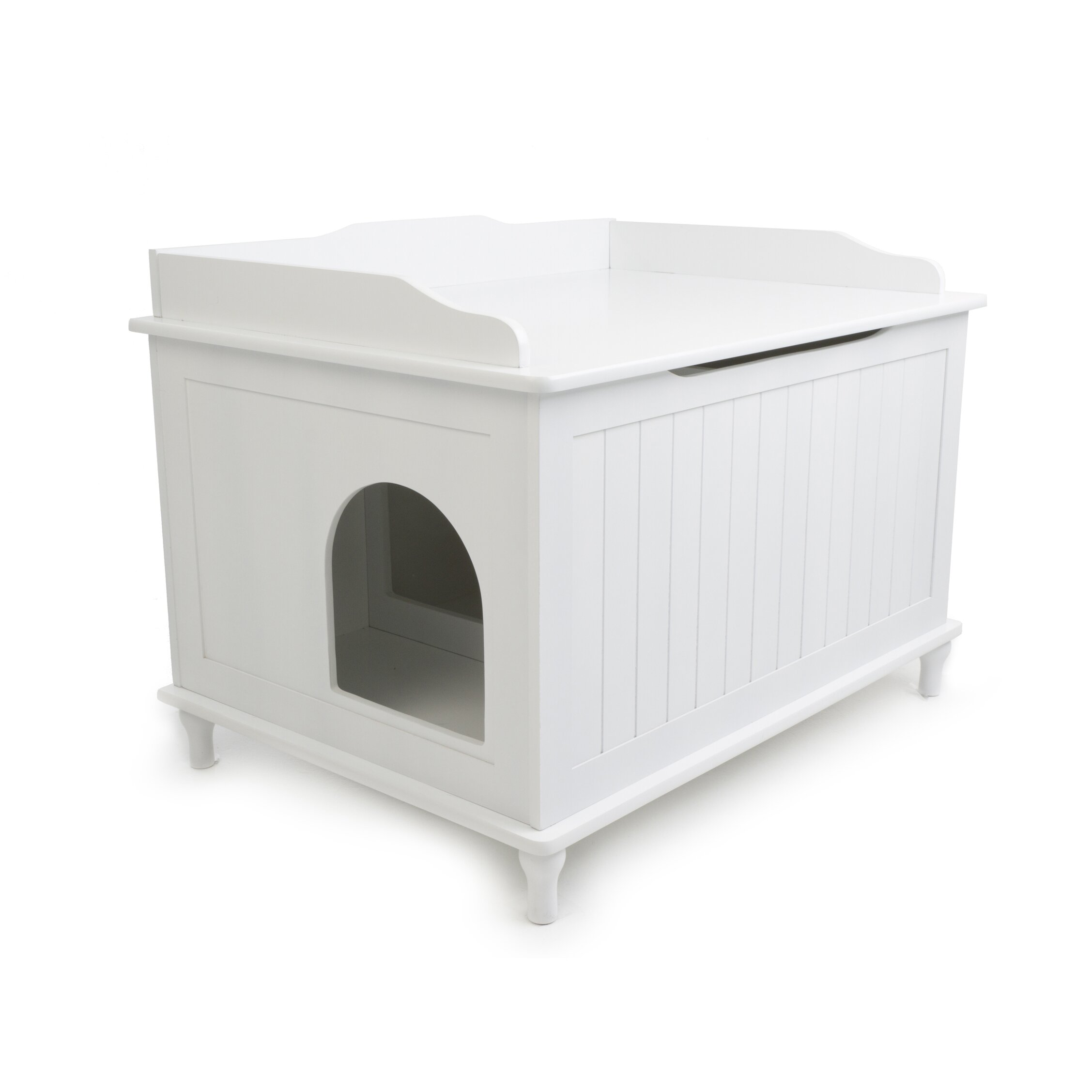 Wooden Litter Box Cabinets Designer Pet Products Mia Litter Box Enclosure Reviews Wayfair