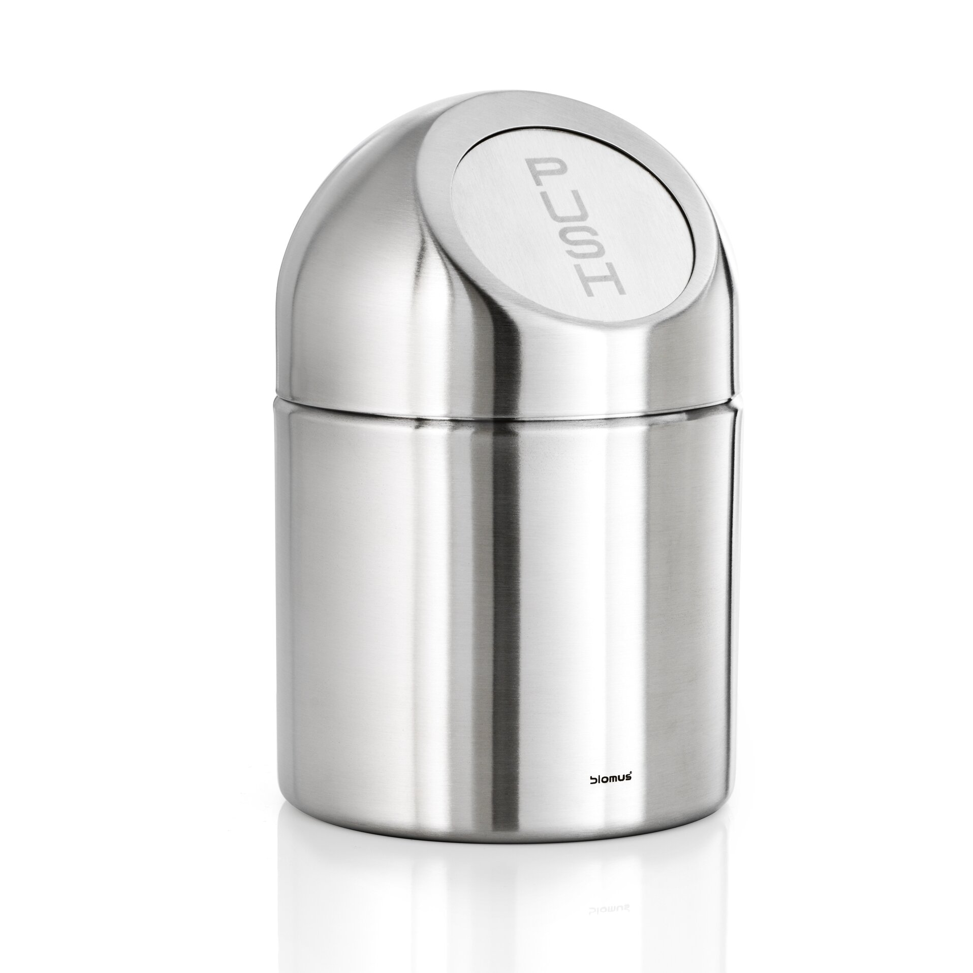 Blomus intro pushboy 5 gallon swing top stainless steel - Poubelle salle de bain ...