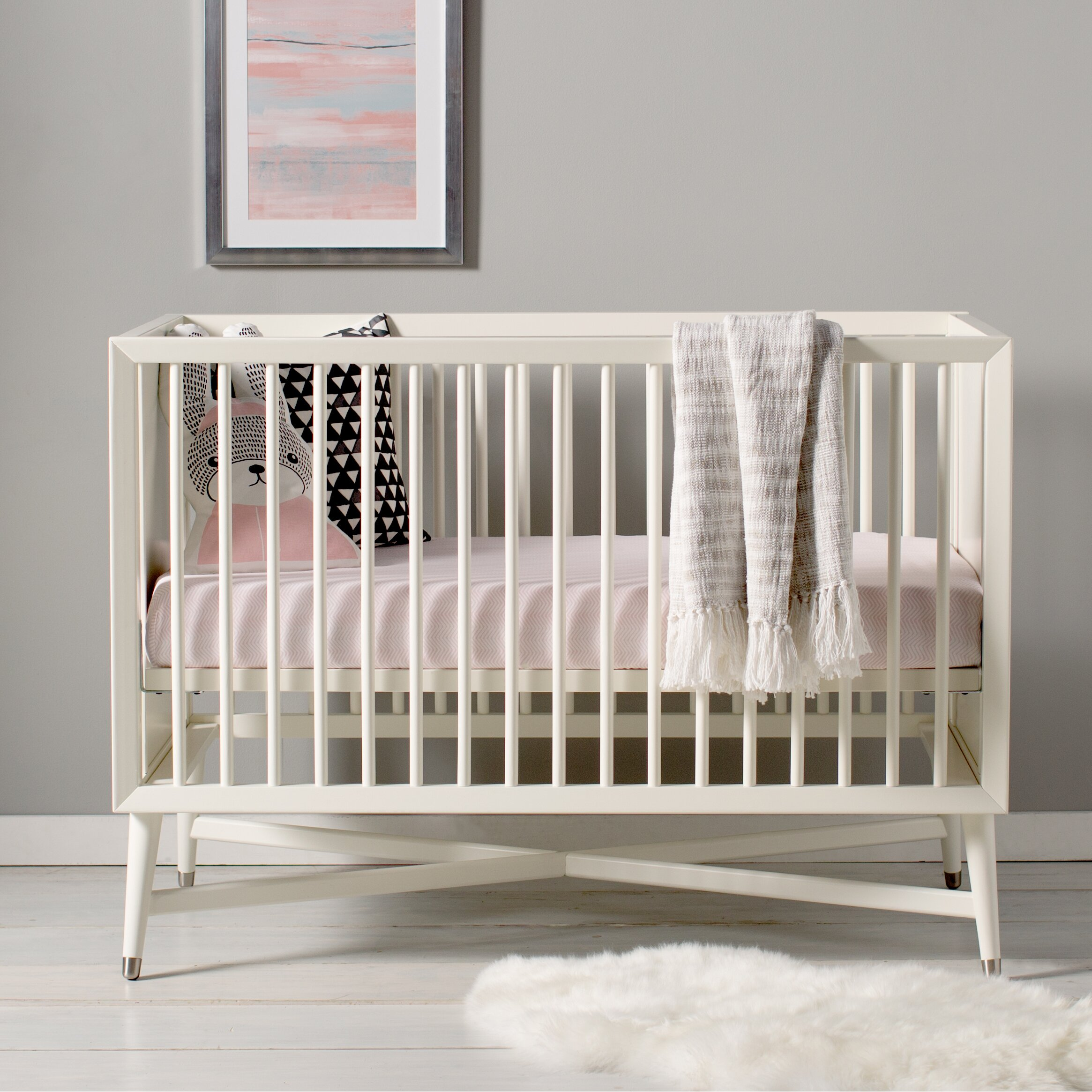 Crib hardware for sale - Dwellstudio Mid Century 3 In 1 Convertible Crib