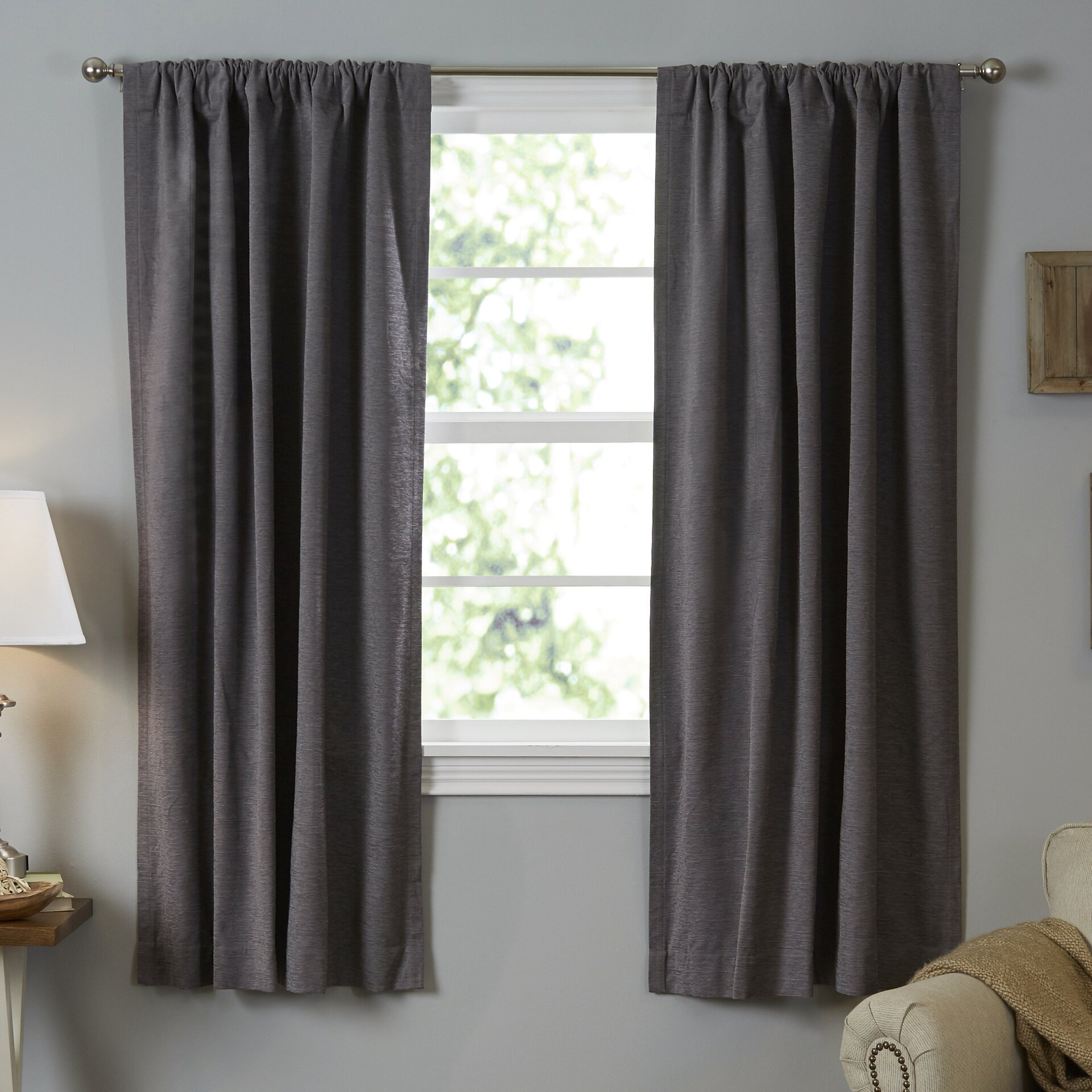 Beautyrest Room Darkening Blackout Thermal Single Curtain Panel. Beautyrest Room Darkening Blackout Thermal Single Curtain Panel