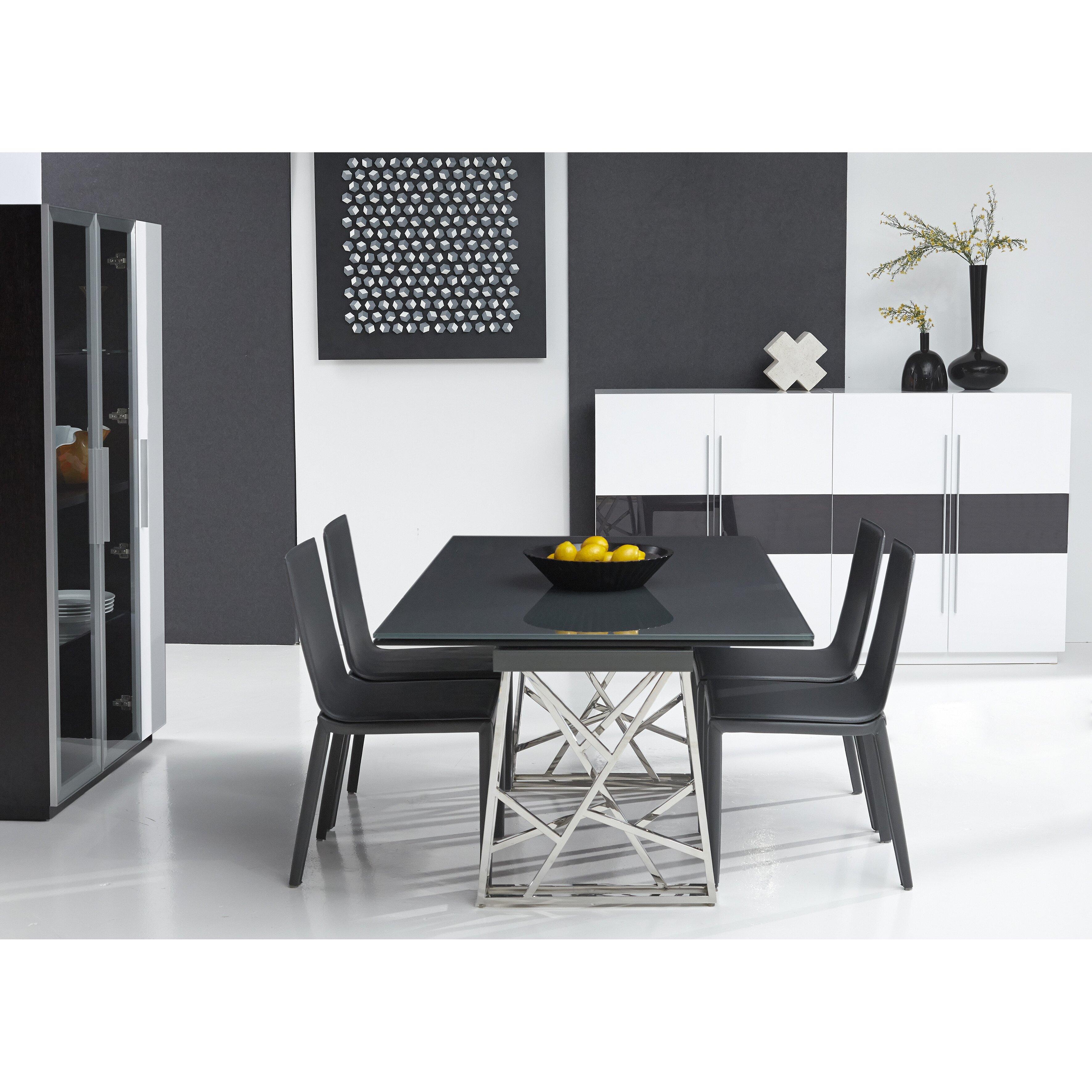 Expandable Kitchen Table Bellini Modern Living Borg Expandable Dining Table Reviews Wayfair