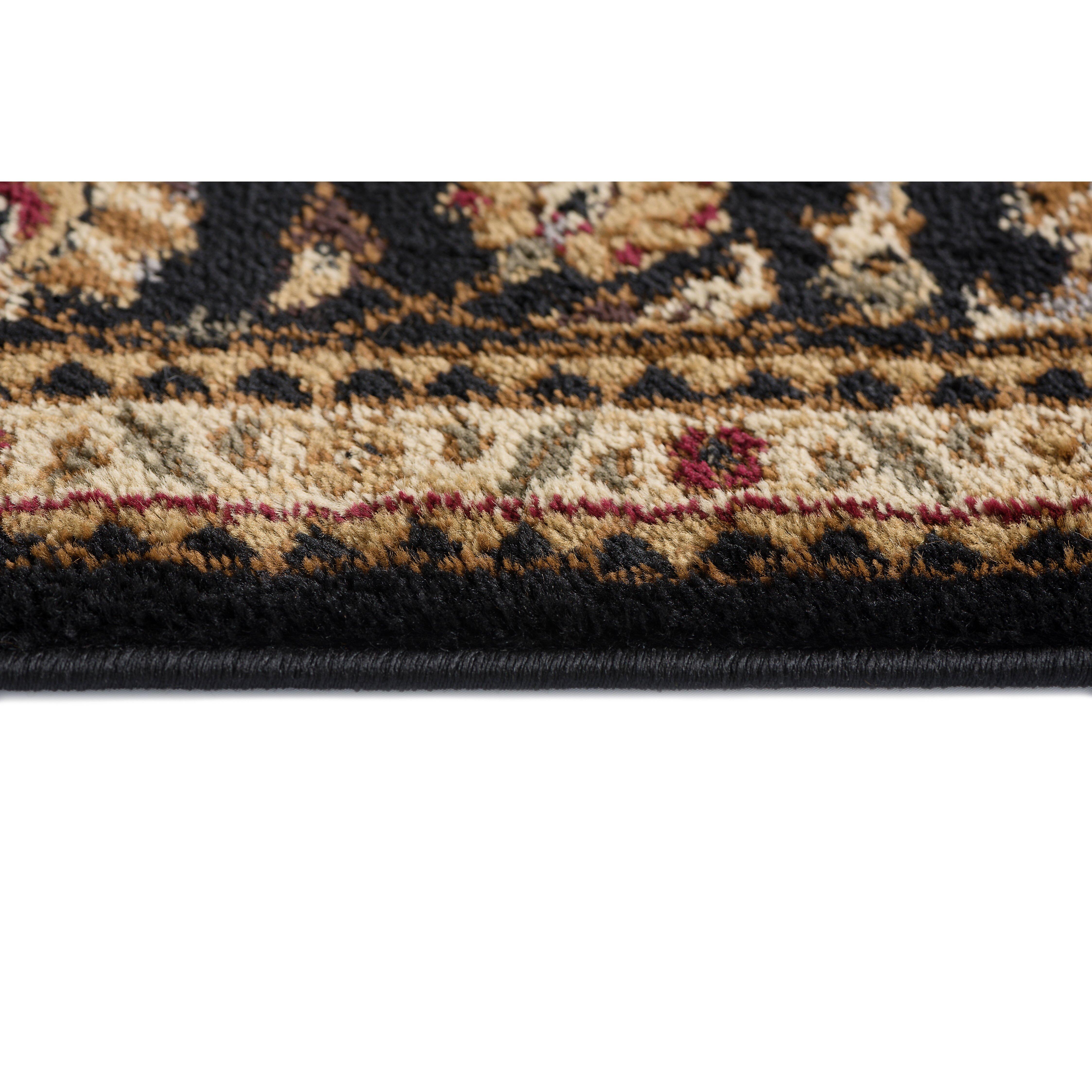 astoria grand sacha traditional 3 piece black area rug set