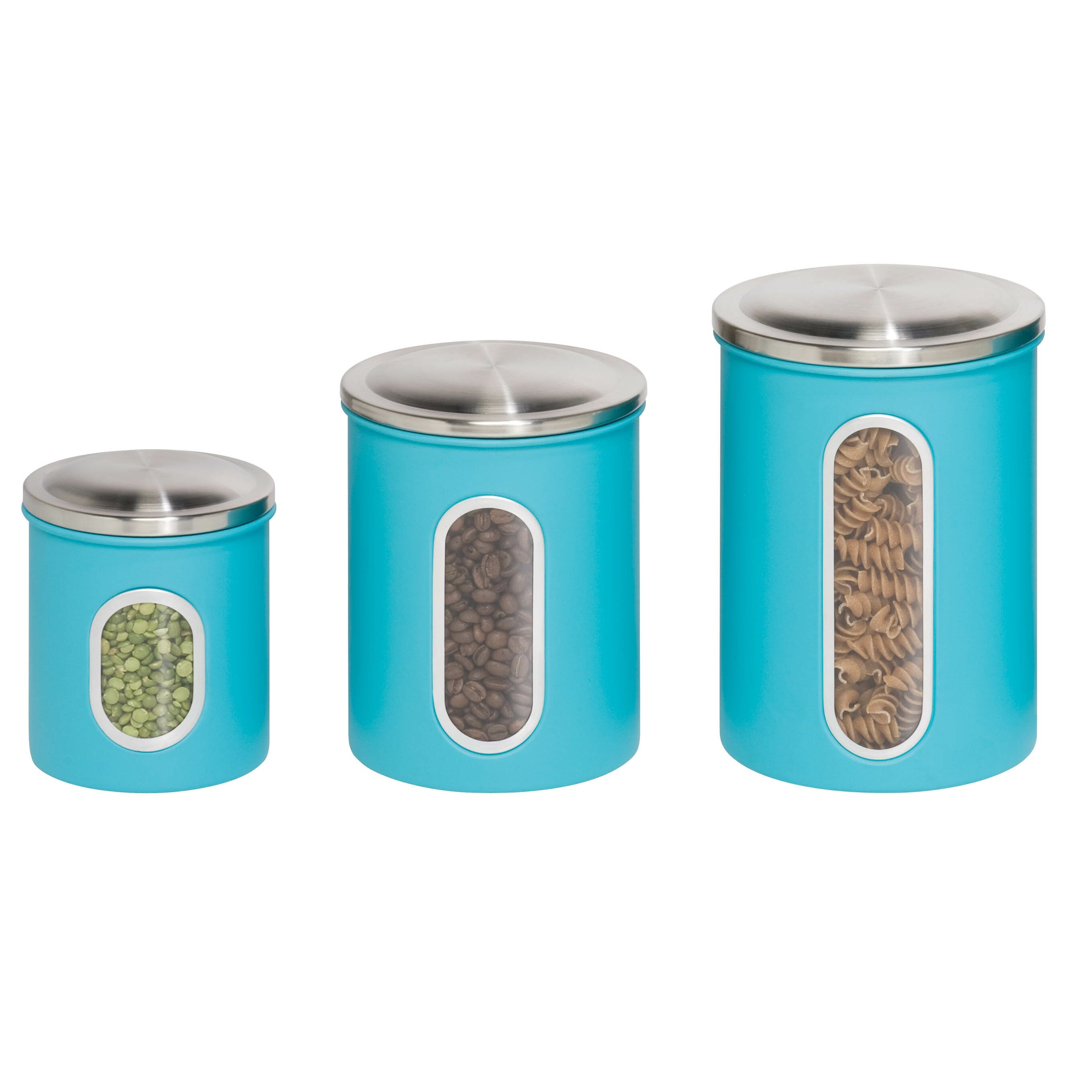 metal kitchen canisters & jars you'll love | wayfair