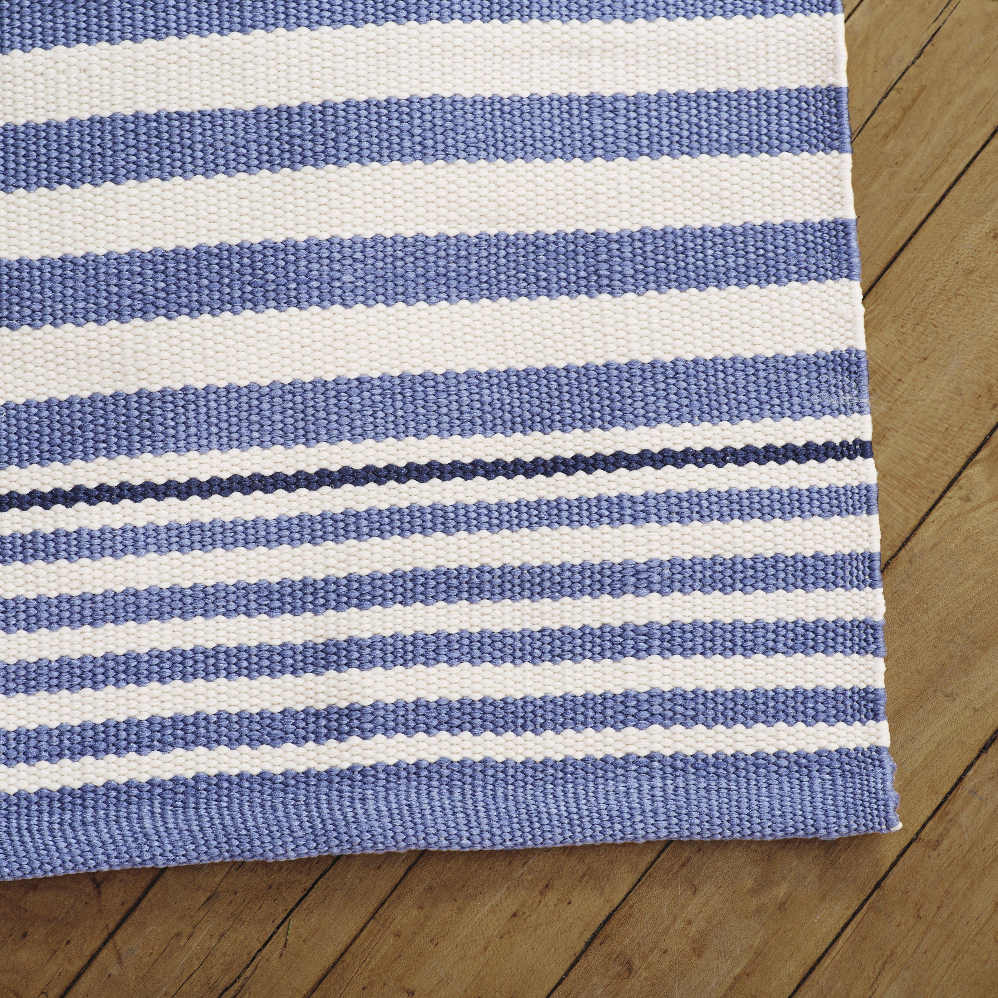 Dash and Albert Rugs Indoor Outdoor Hand Woven Blue Area