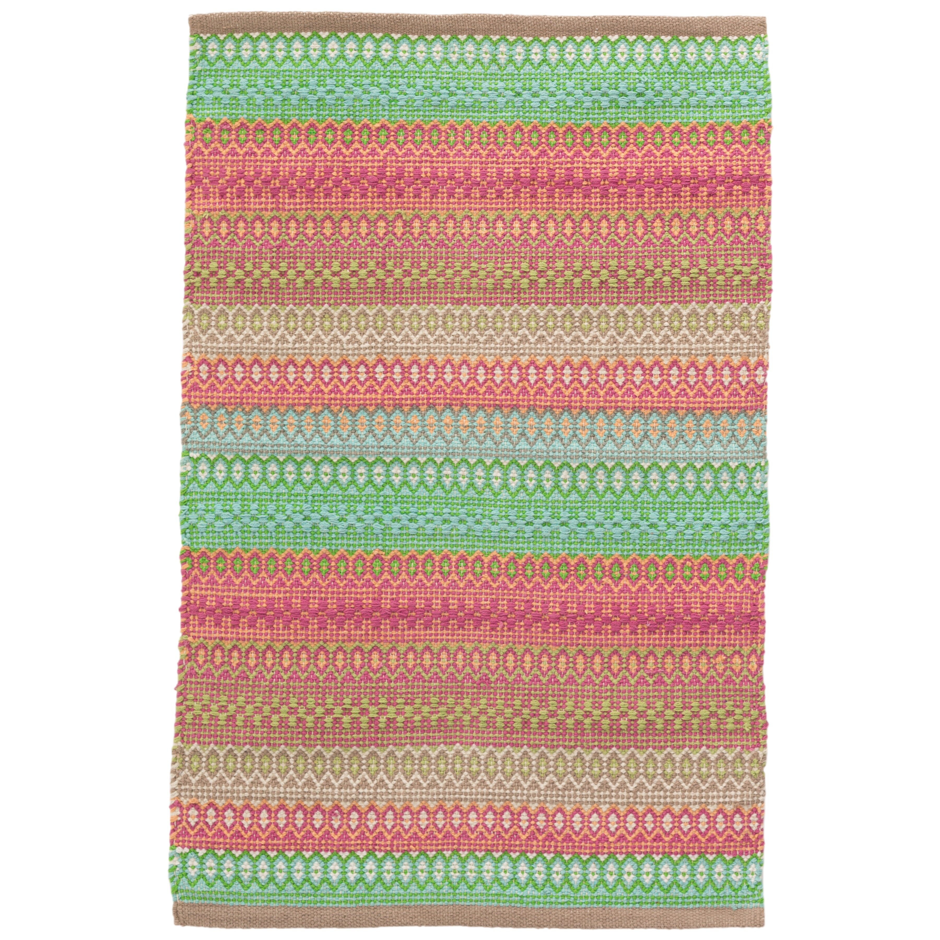 Dash And Albert Rugs Gypsy Pink/Green Area Rug & Reviews