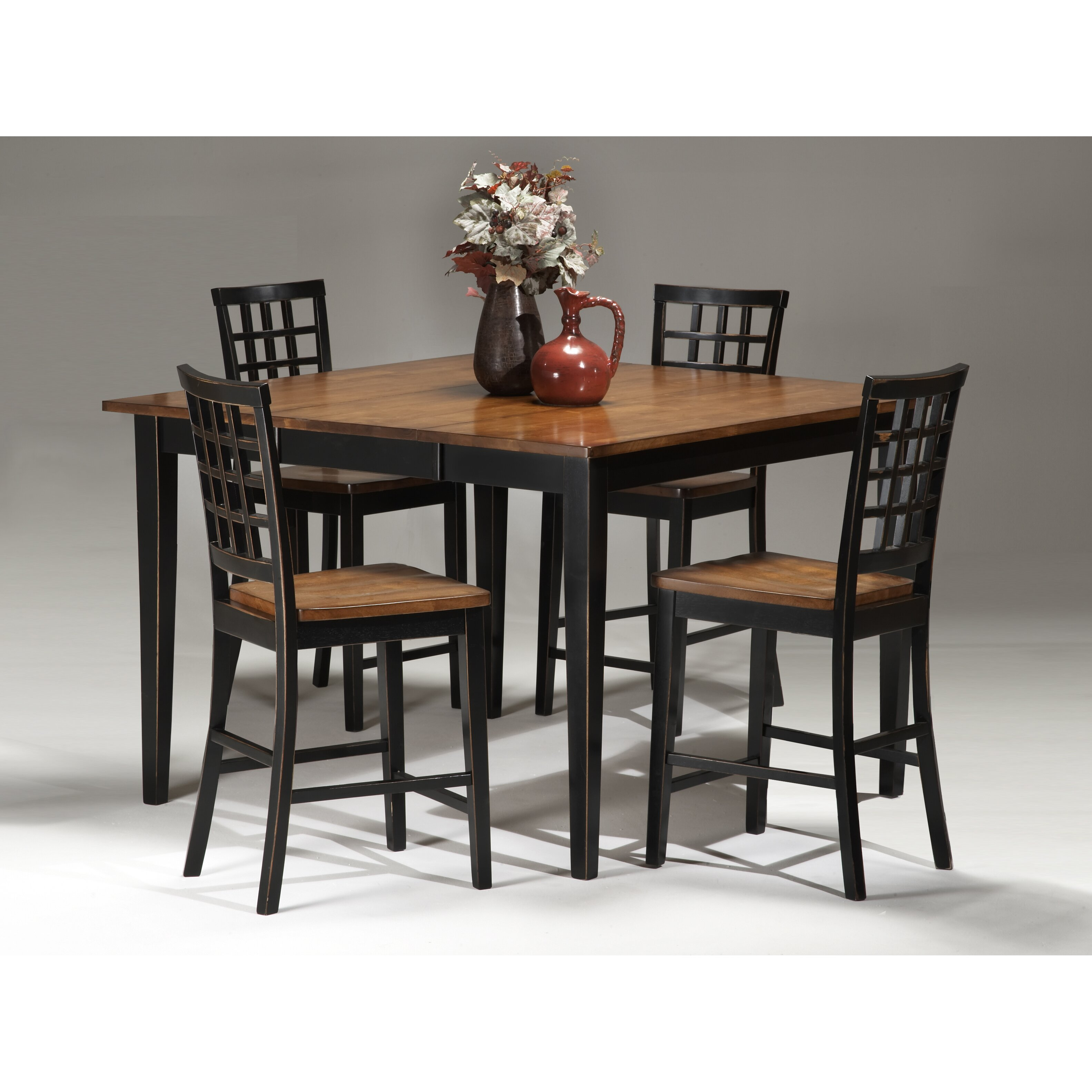 imagio home by intercon arlington counter height gathering table: tabacon counter height dining table wine