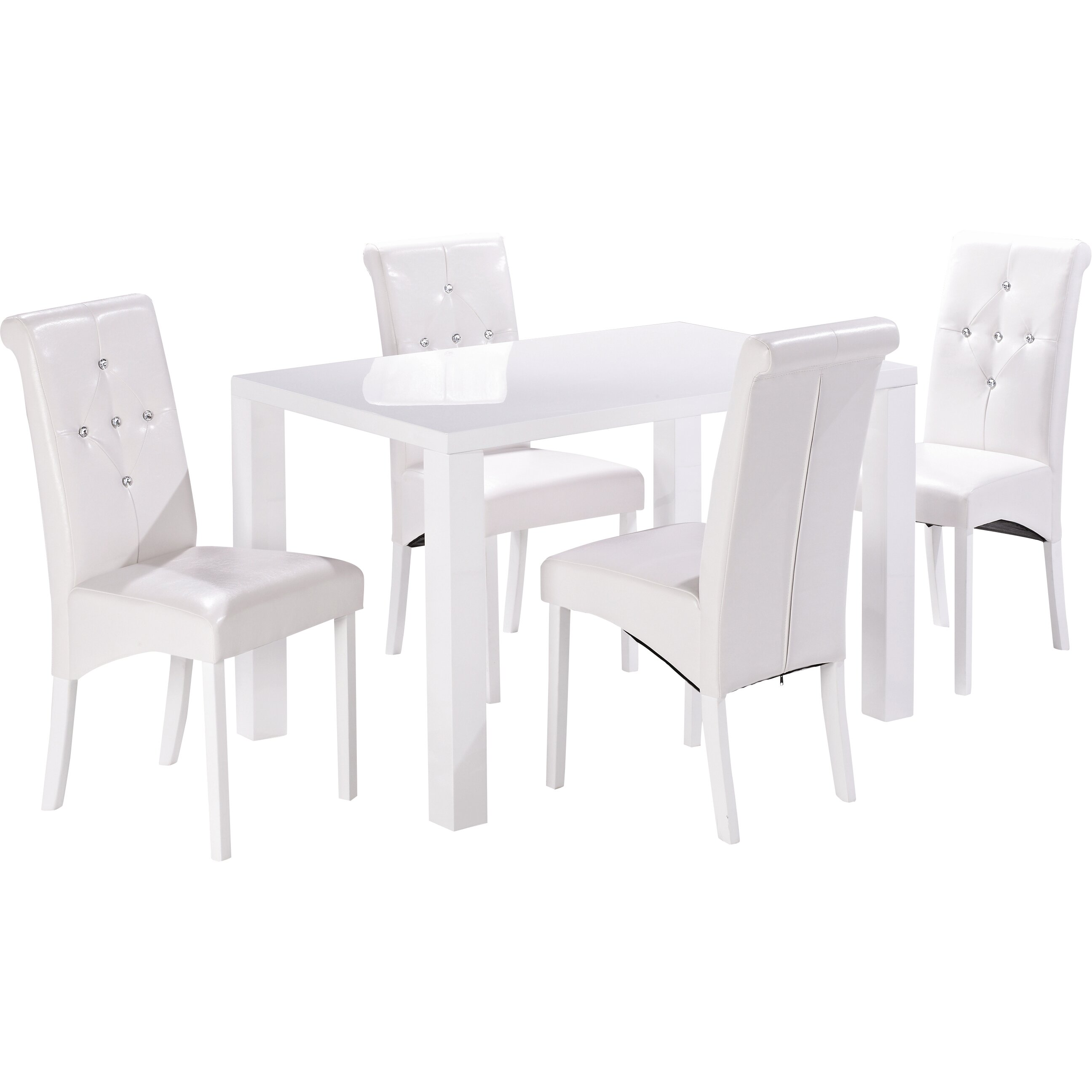 Home Zone Furniture Monroe Dining Table And 4 Chairs Reviews Wayfair Uk