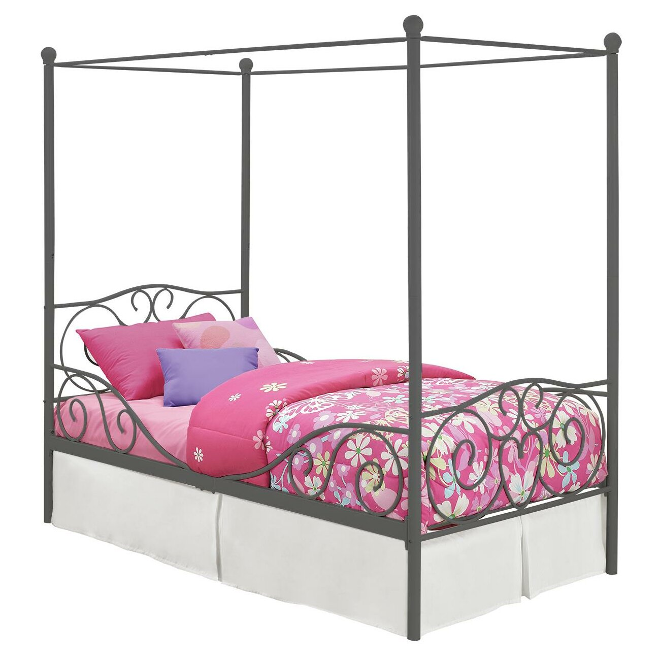 Dhp Twin Canopy Bed Amp Reviews Wayfair