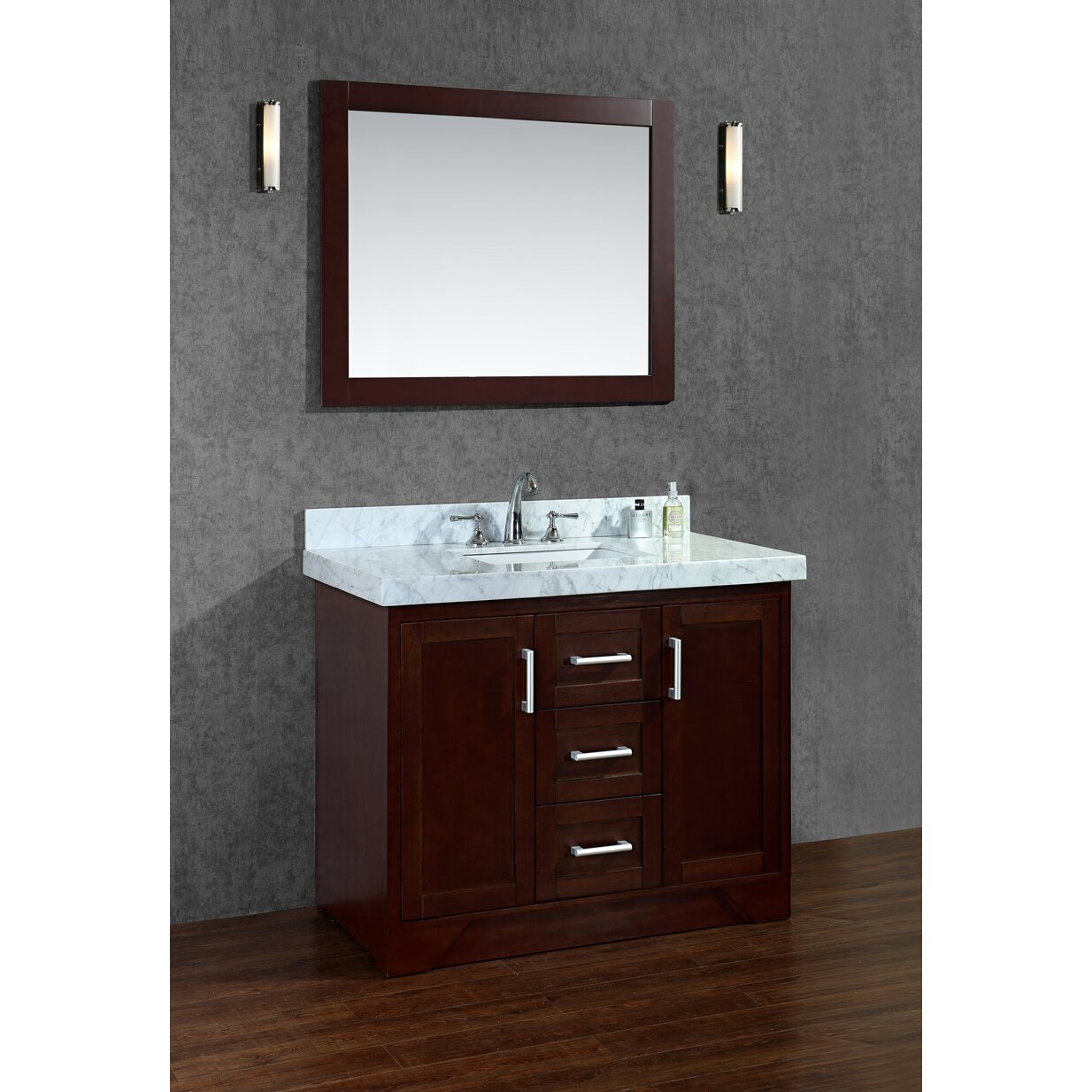 42 Bathroom Vanity Ariel Bath Ashbury 42 Single Bathroom Vanity Set With Mirror