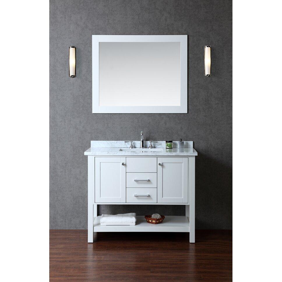 Ariel Bath Bayhill 42 Single Bathroom Vanity Set with Mirror – Bathroom Vanity and Mirror Set
