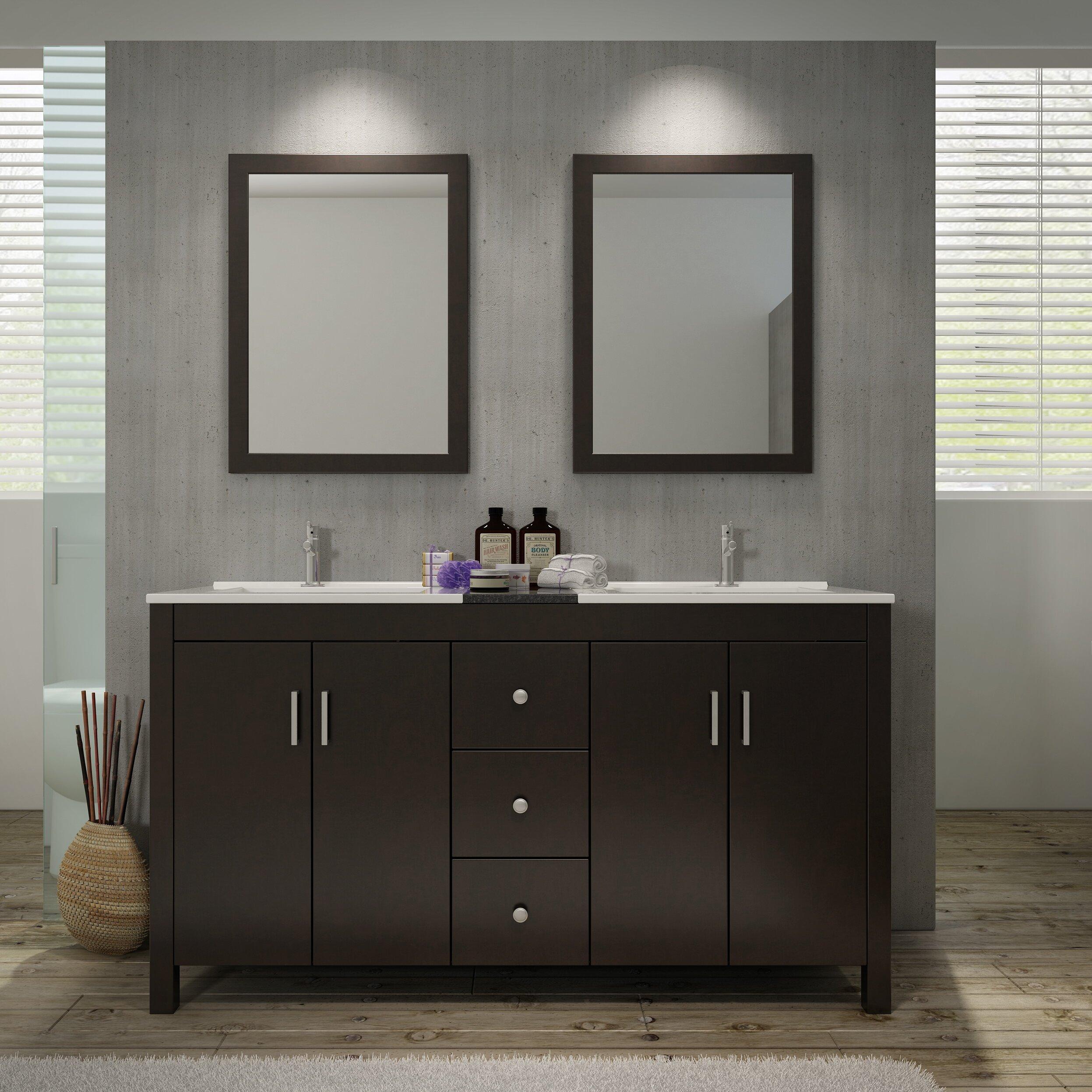 mirrored - Mirrored Bathroom Vanity
