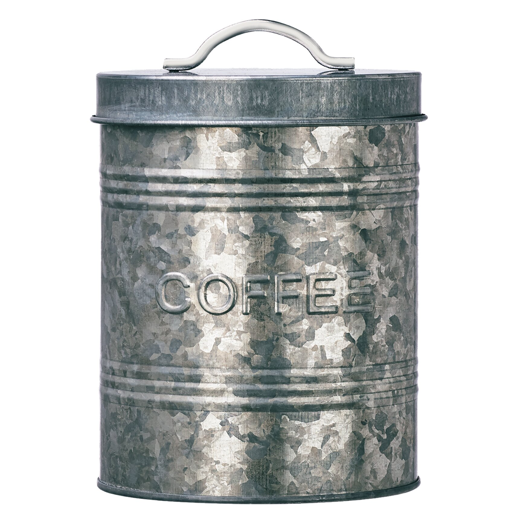 Rustic Kitchen Canisters Global Amici 225 Quart Rustic Kitchen Galvanized Metal Canister
