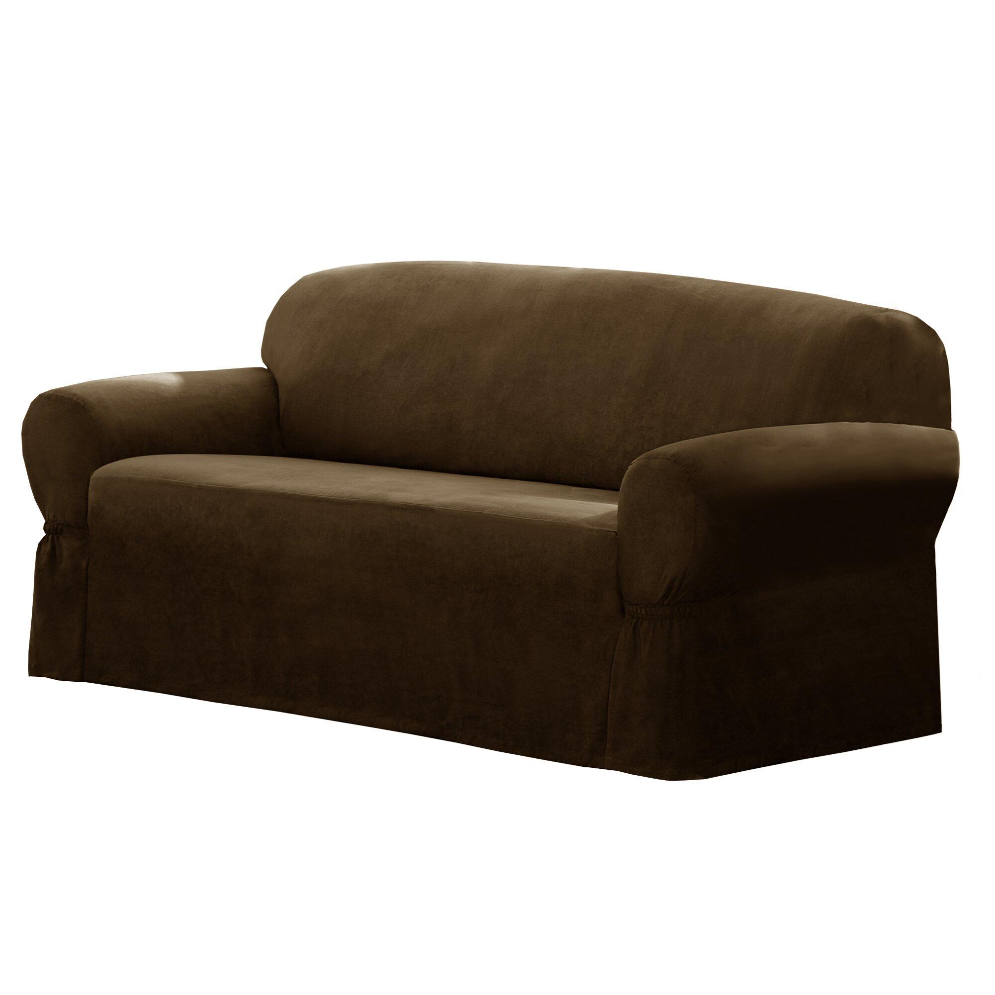 T Cushion Sofa Slip Cover: Maytex T-Cushion Loveseat/Sofa Slipcover & Reviews