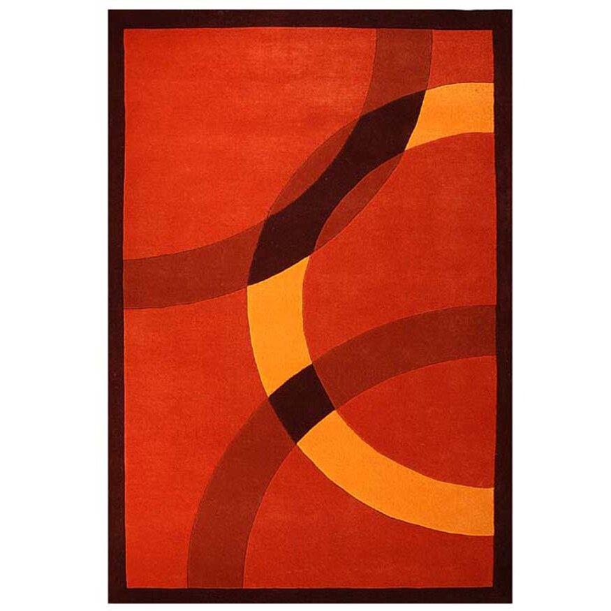 Acura Rugs Contempo Dark Orange/Yellow Area Rug & Reviews