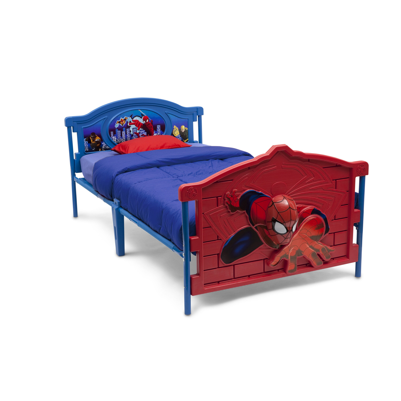Marvel Bedroom Furniture Delta Children Marvel Spider Man 3 D Twin Convertible Toddler Bed