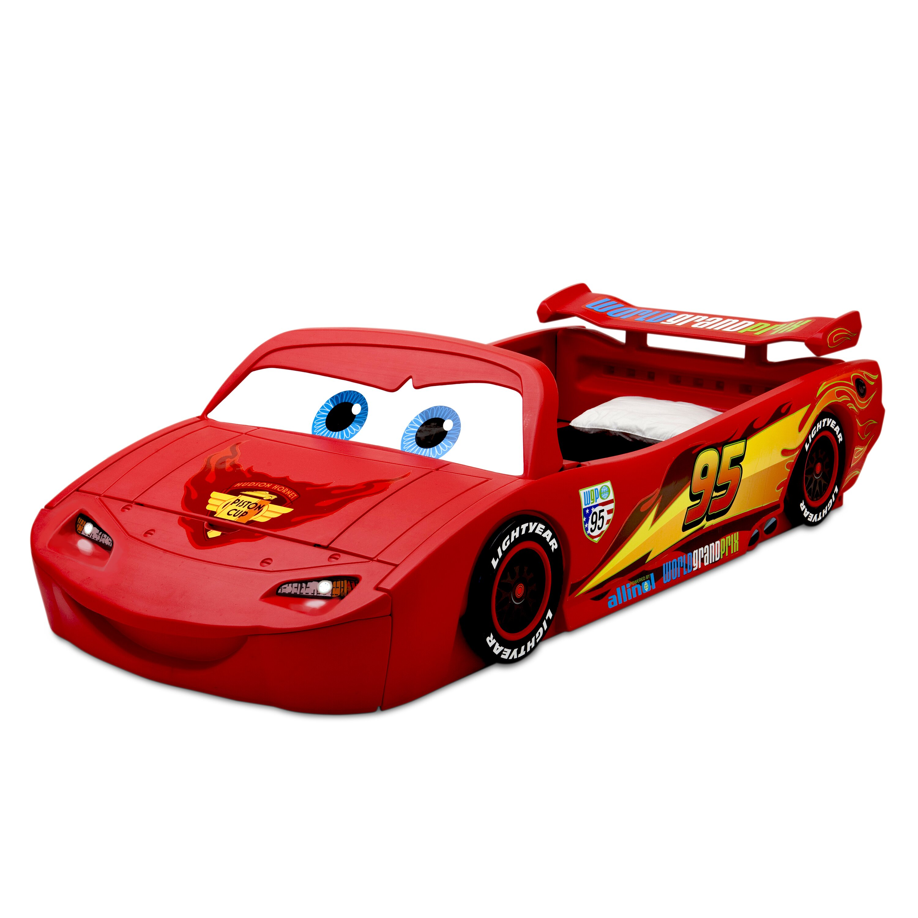 Little tikes lightning mcqueen toddler bed - Delta Children Disney Pixar Cars Lightning Mcqueen Covertible Toddler Bed With Lights And Toy Box