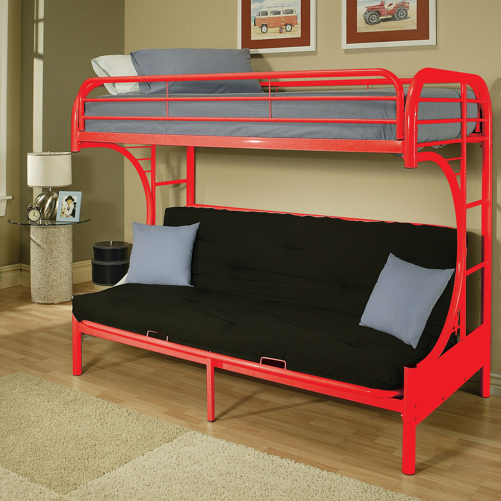Bunk bed with couch on bottom - Eclipse Futon Bunk Bed