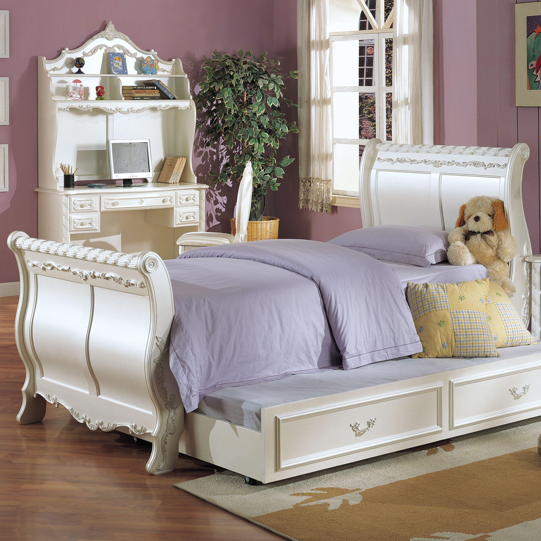 acme furniture sleigh customizable bedroom set & reviews | wayfair