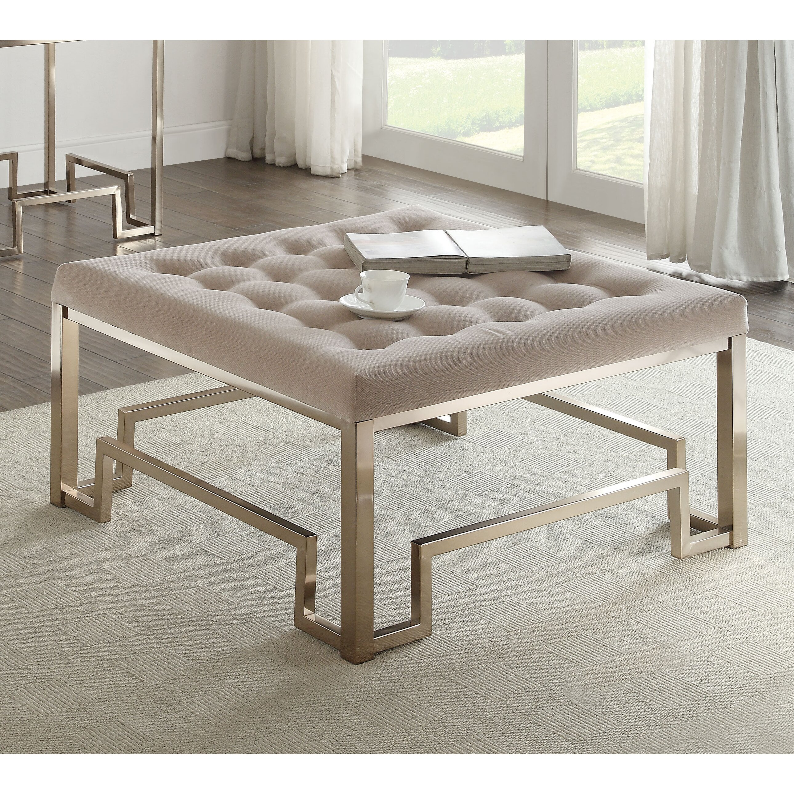 Coffee Table With Fabric: ACME Furniture Damien Fabric Coffee Table & Reviews