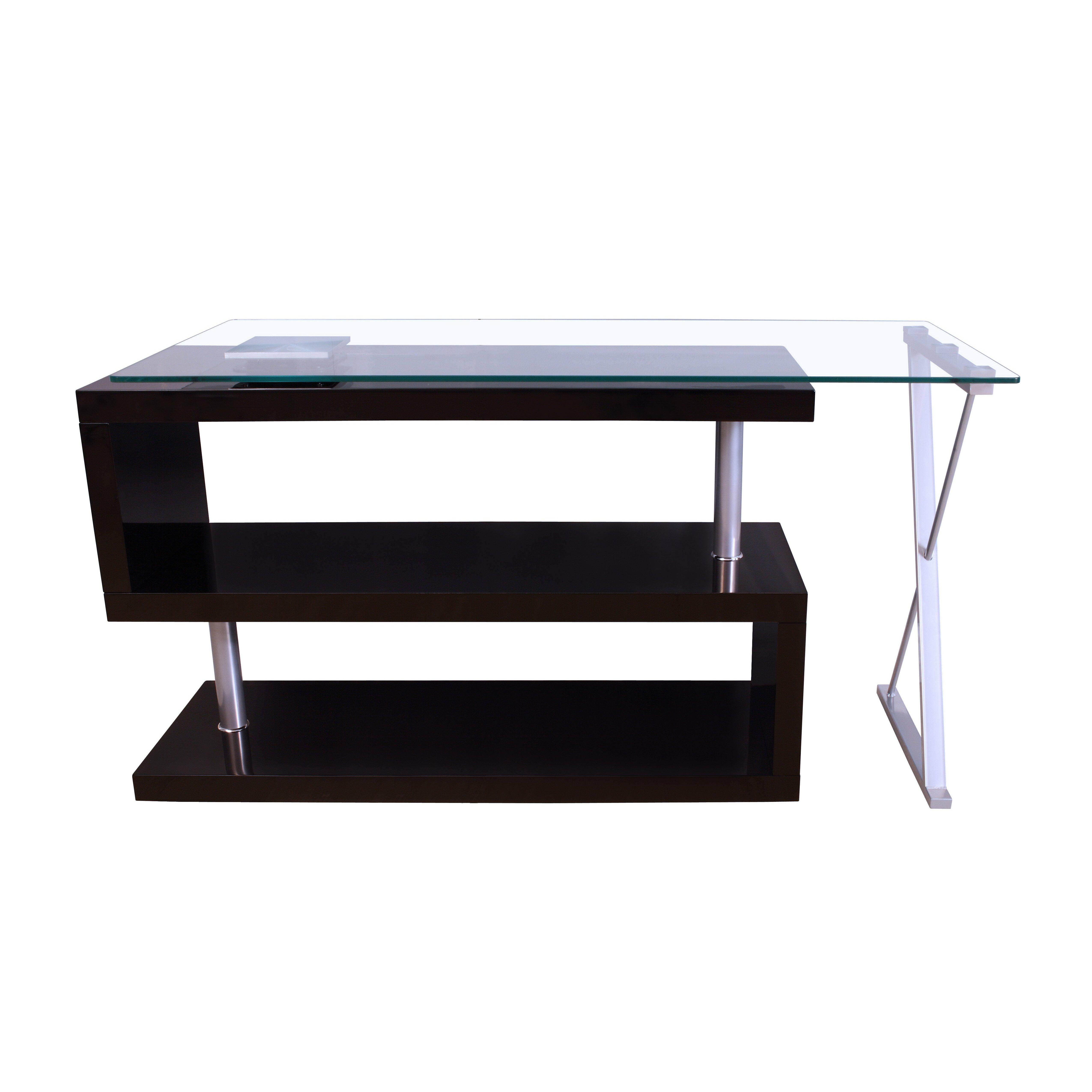 S Shaped Coffee Table Buck High Gloss Convertible S Shape Writing Desk Reviews Allmodern