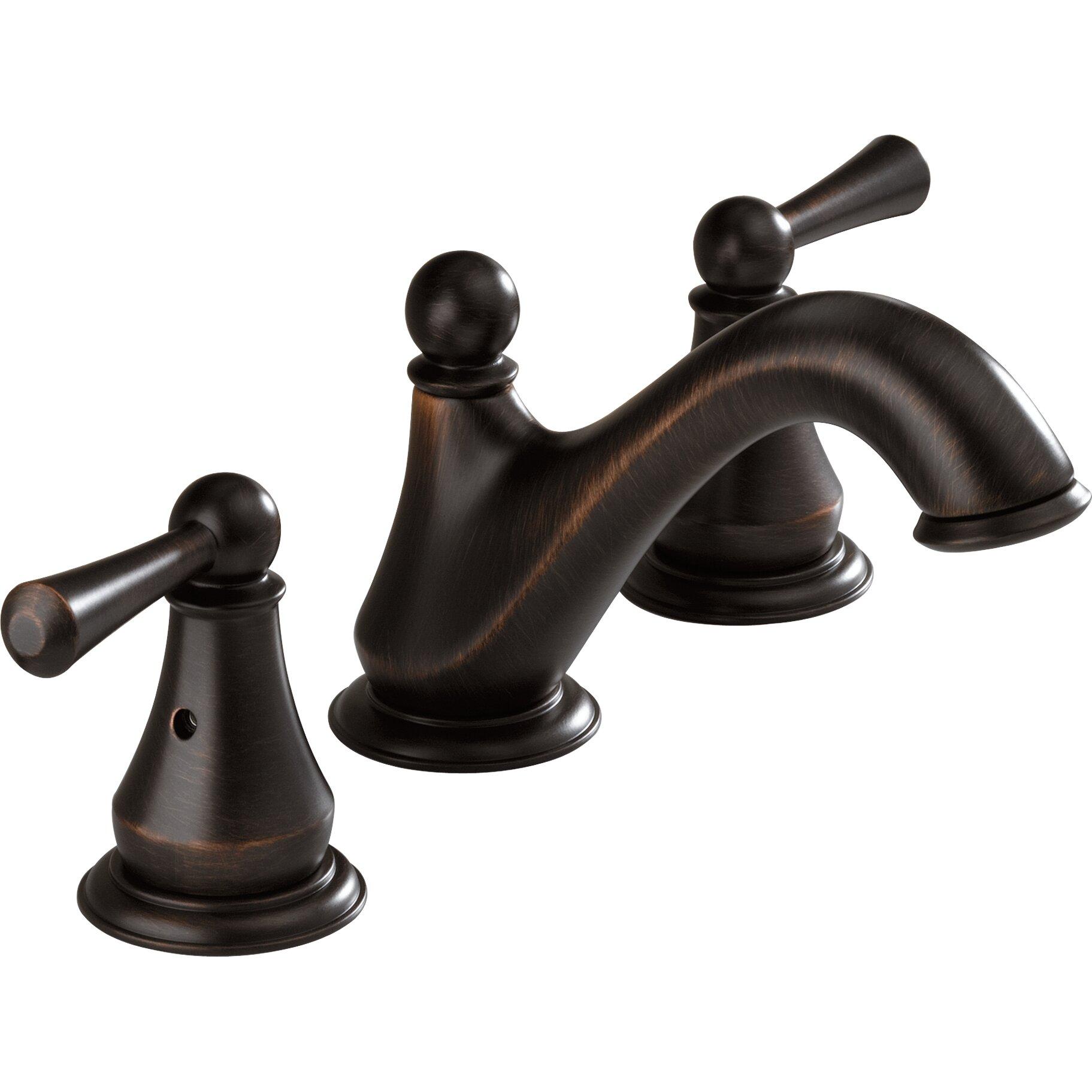 Delta Lewiston Widespread Bathroom Faucet with Double Lever Handles. Delta Lewiston Widespread Bathroom Faucet with Double Lever