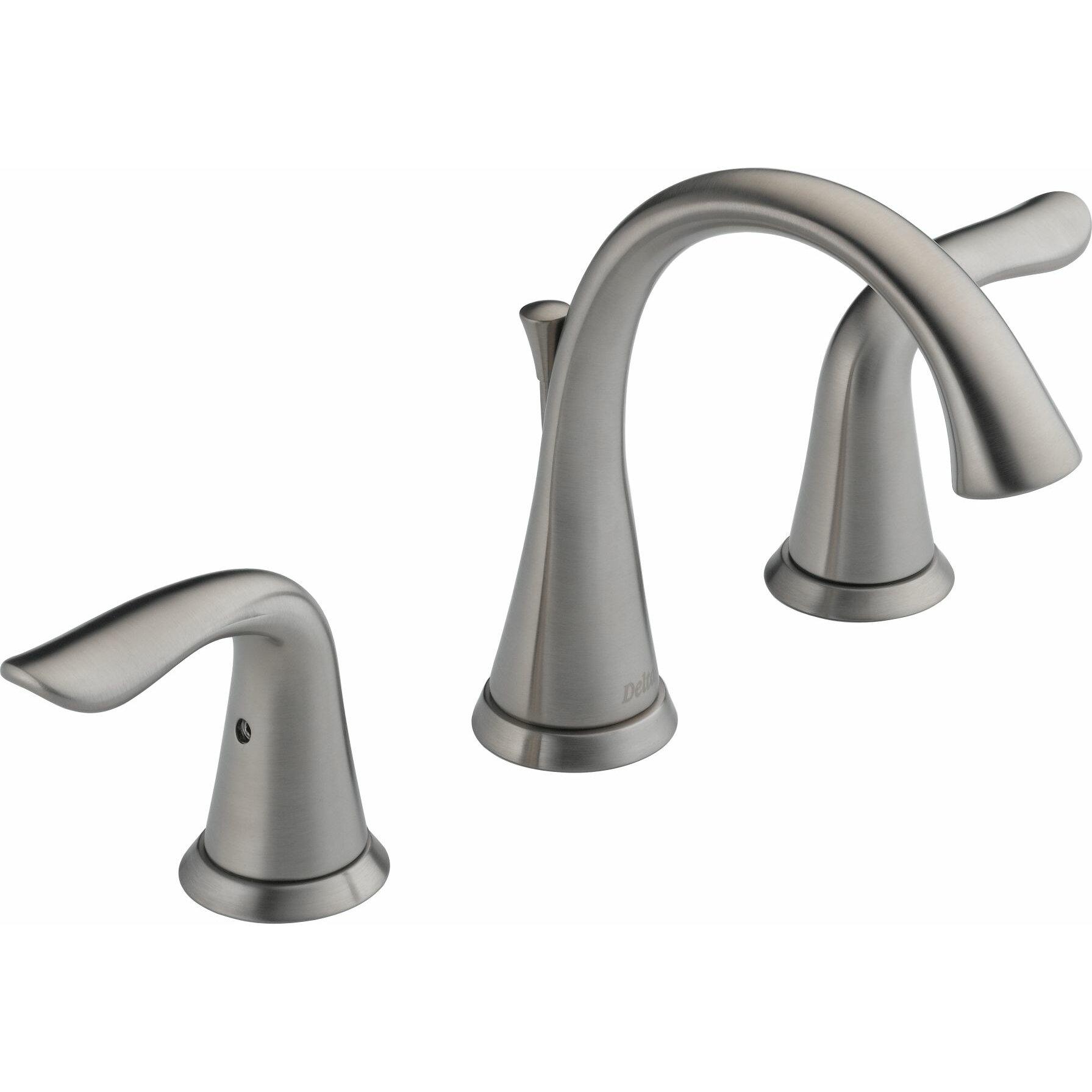 Delta Lahara Widespread Bathroom Faucet With Double Lever