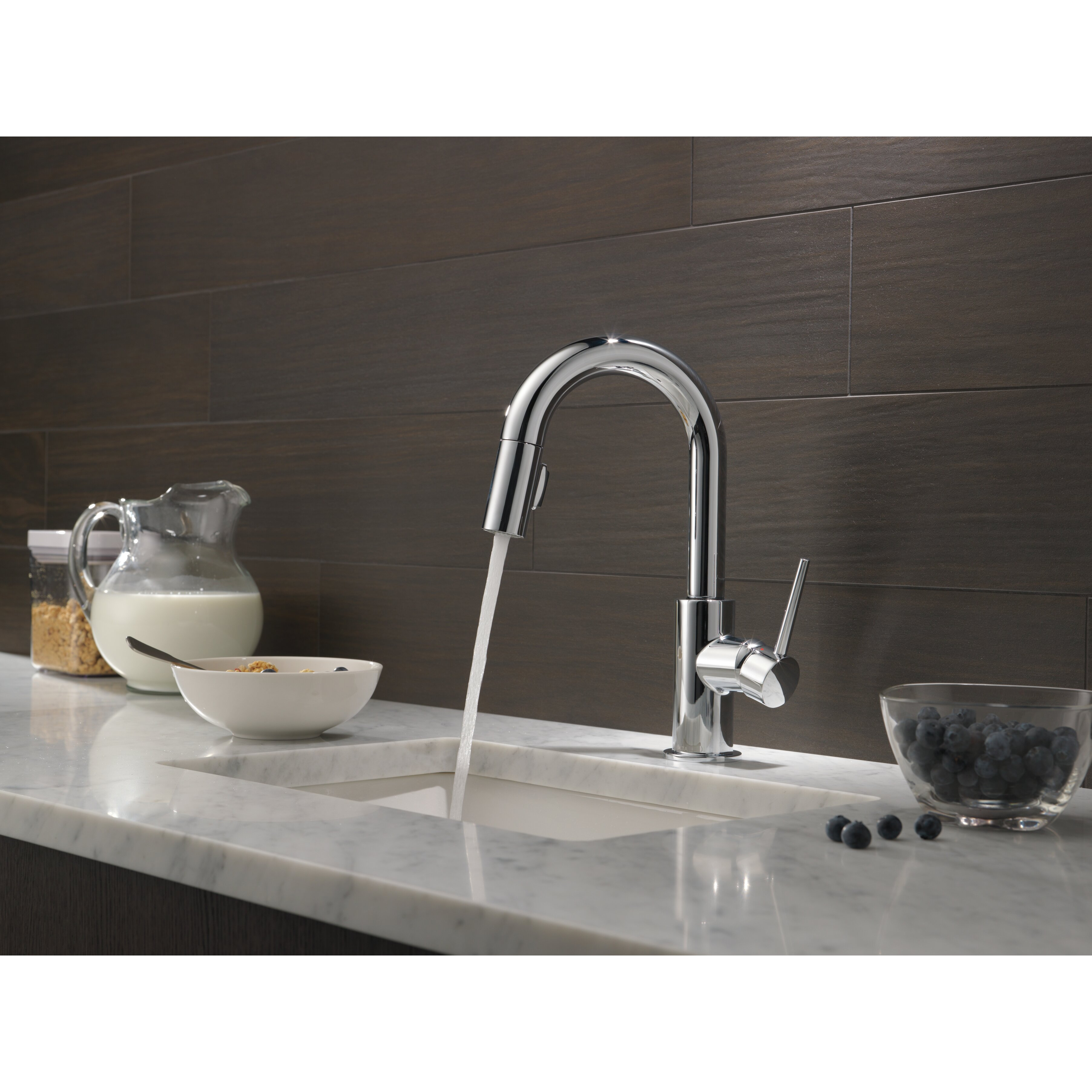 Delta Pull Down Kitchen Faucet Trinsicar Kitchen Single Handle Pull Down Bar Prep Faucet