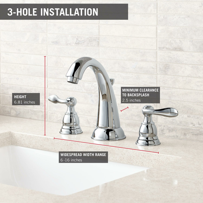 Delta Windemere Widespread Bathroom Faucet with Double Lever Handles. Delta Windemere Widespread Bathroom Faucet with Double Lever