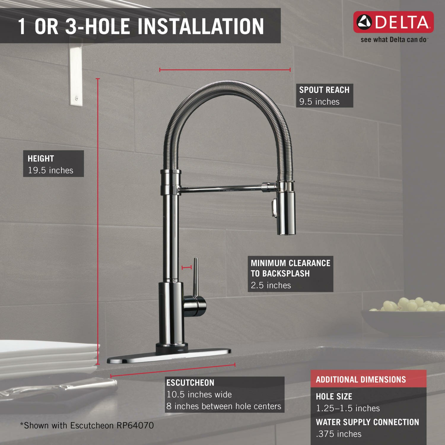 Touch Technology Kitchen Faucet Delta Trinsic Pro Single Handle Deck Mounted Pull Down Kitchen