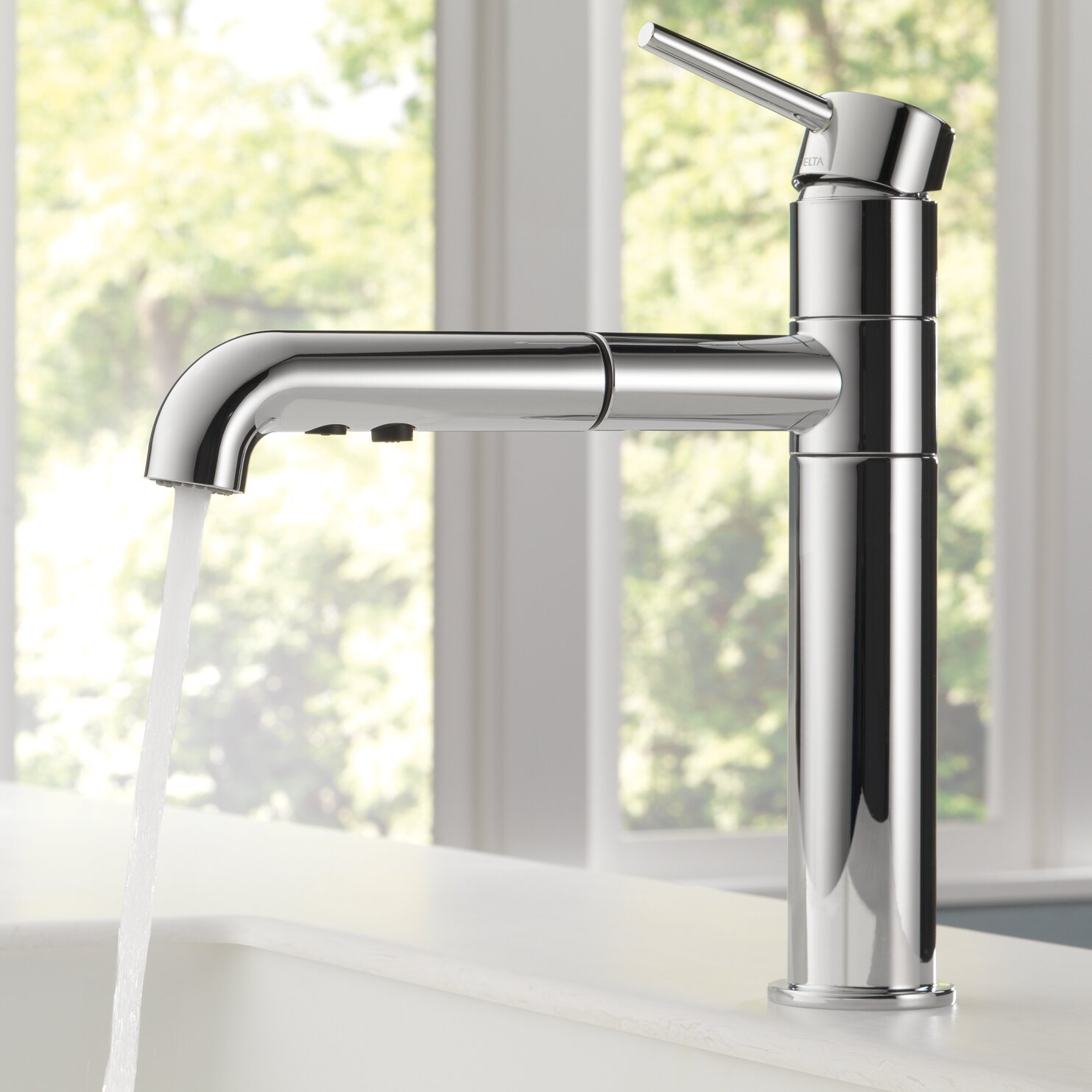 Reviews Of Kitchen Faucets Delta Trinsicr Kitchen Single Handle Pull Out Standard Kitchen
