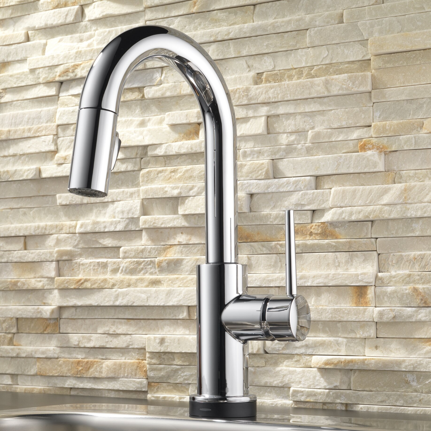 Delta Pull Down Kitchen Faucet Delta Trinsicar Kitchen Touchless Single Handle Pull Down Bar