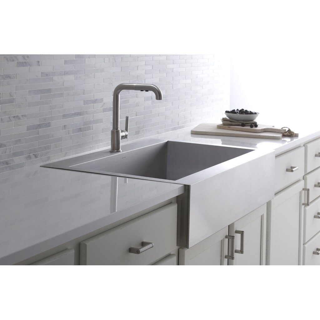 Kitchen Sink Furniture Kohler Vault 35 3 4 X 24 5 16 X 9 5 16 Top Mount Single Bowl