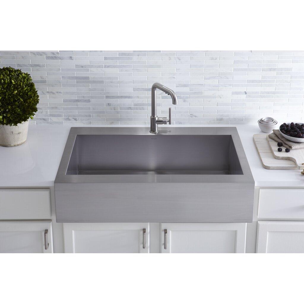 Kohler Kitchen Sinks Stainless Steel Top Mount : Remodel Sinks Kitchen Sinks Kohler Part #: K-3942-1 SKU: KOH19347