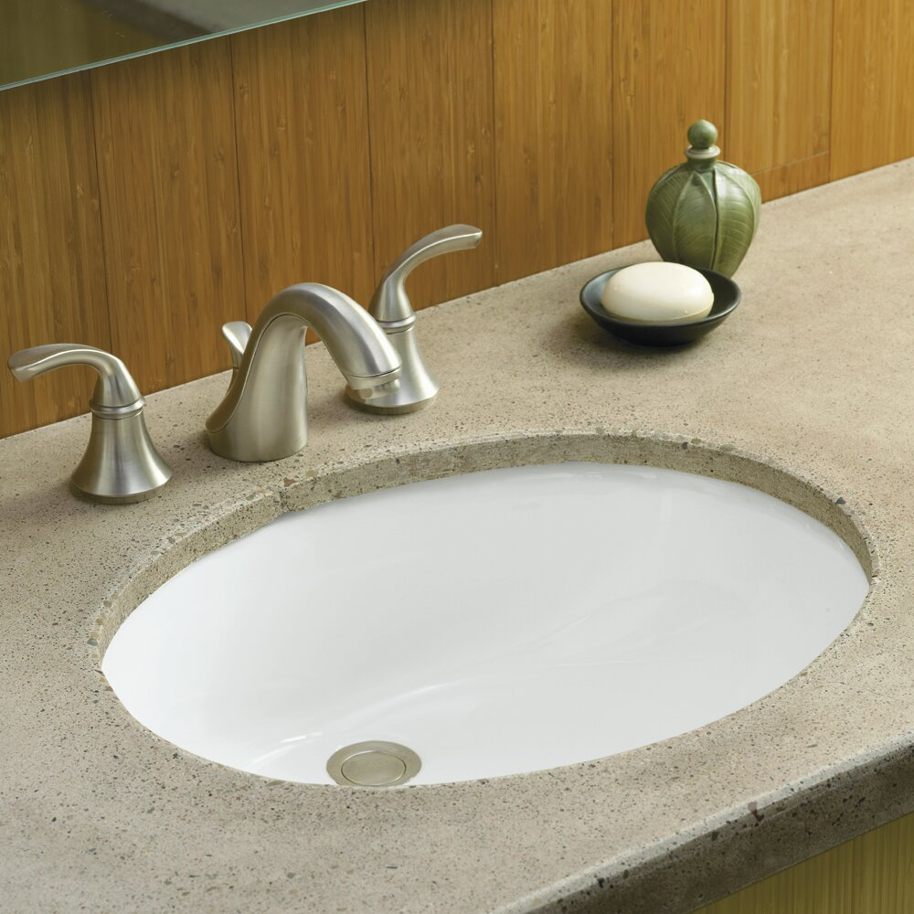 kohler caxton oval undermount bathroom sink with overflow reviews