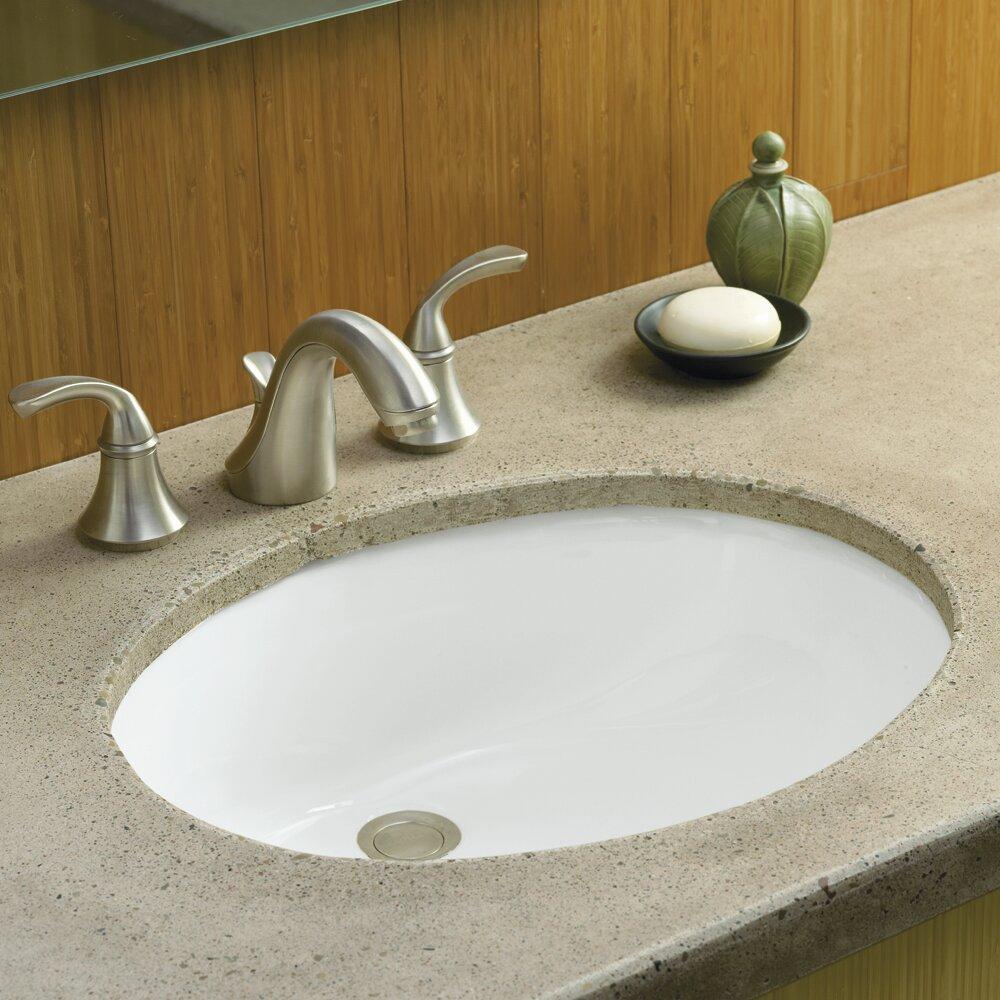 kohler caxton oval undermount bathroom sink with overflow