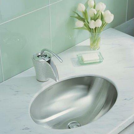 Kohler Rhythm Oval Undermount Bathroom Sink with Mirror Finish. Kohler Rhythm Oval Undermount Bathroom Sink with Mirror Finish