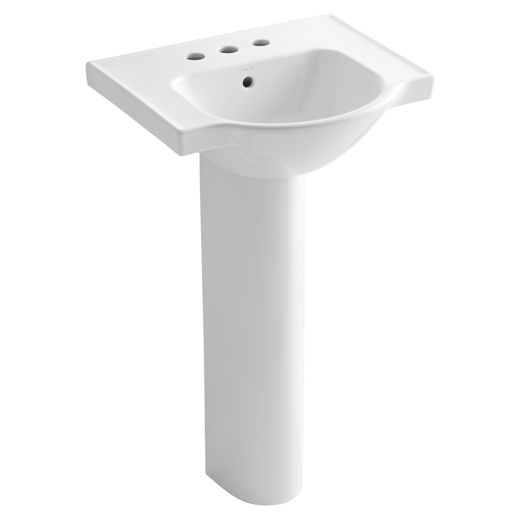 Kohler Veer 21 quot  Pedestal Bathroom Sink. Kohler Veer 21  Pedestal Bathroom Sink   Reviews   Wayfair