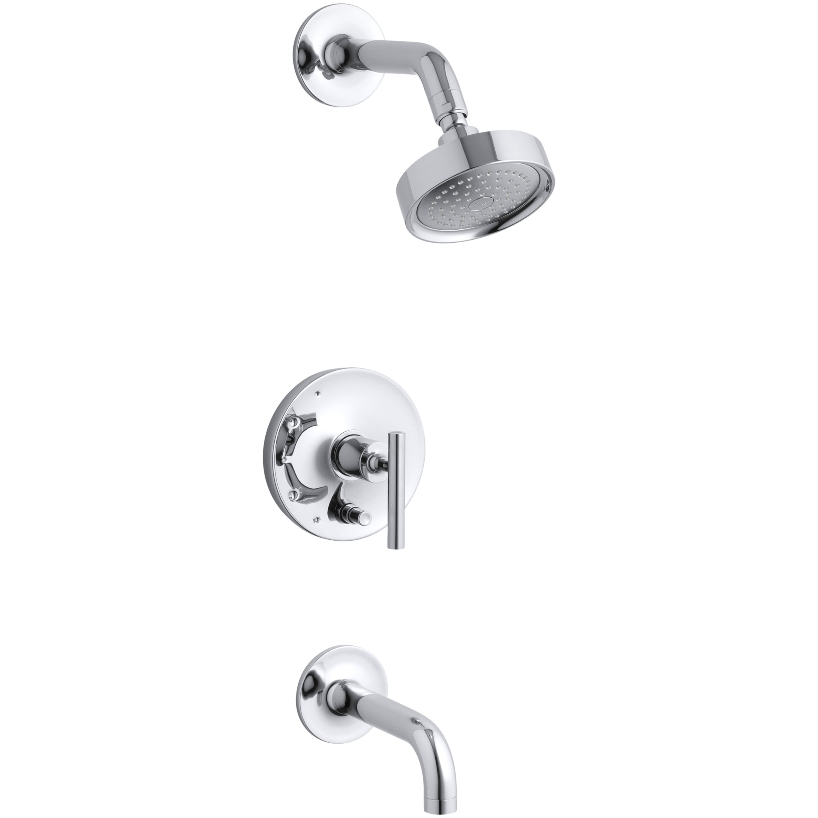 Kohler Purist Rite-Temp Pressure-Balancing Bath and Shower Faucet ... - Kohler Purist Rite-Temp Pressure-Balancing Bath and Shower Faucet Trim with  Push-
