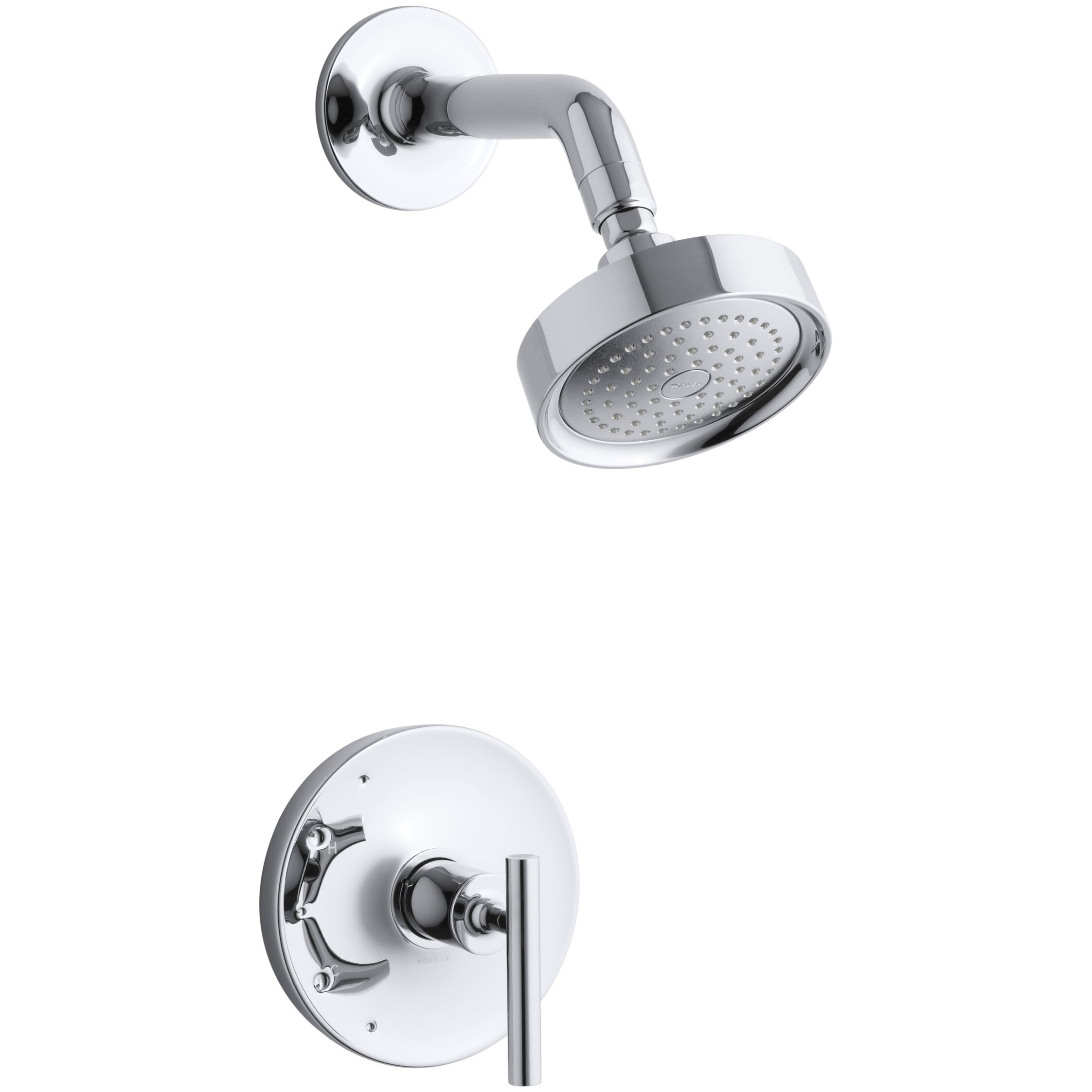 Kohler Purist Rite-Temp Pressure-Balancing Shower Faucet Trim with ... - Kohler Purist Rite-Temp Pressure-Balancing Shower Faucet Trim with Lever  Handle, Valve
