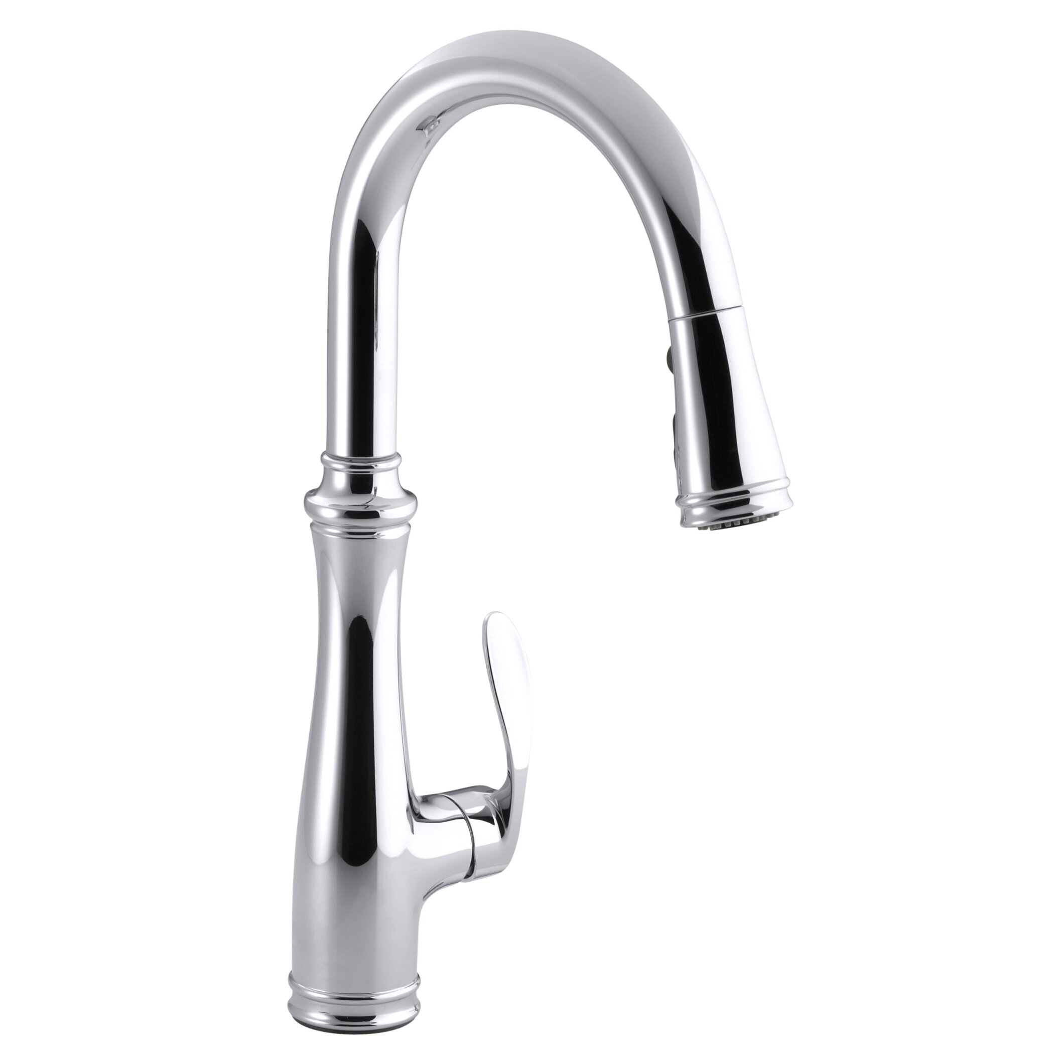 kohler c kohler kitchen faucet Bellera Kitchen Sink Faucet with 16 3 4 Pull Down Spout