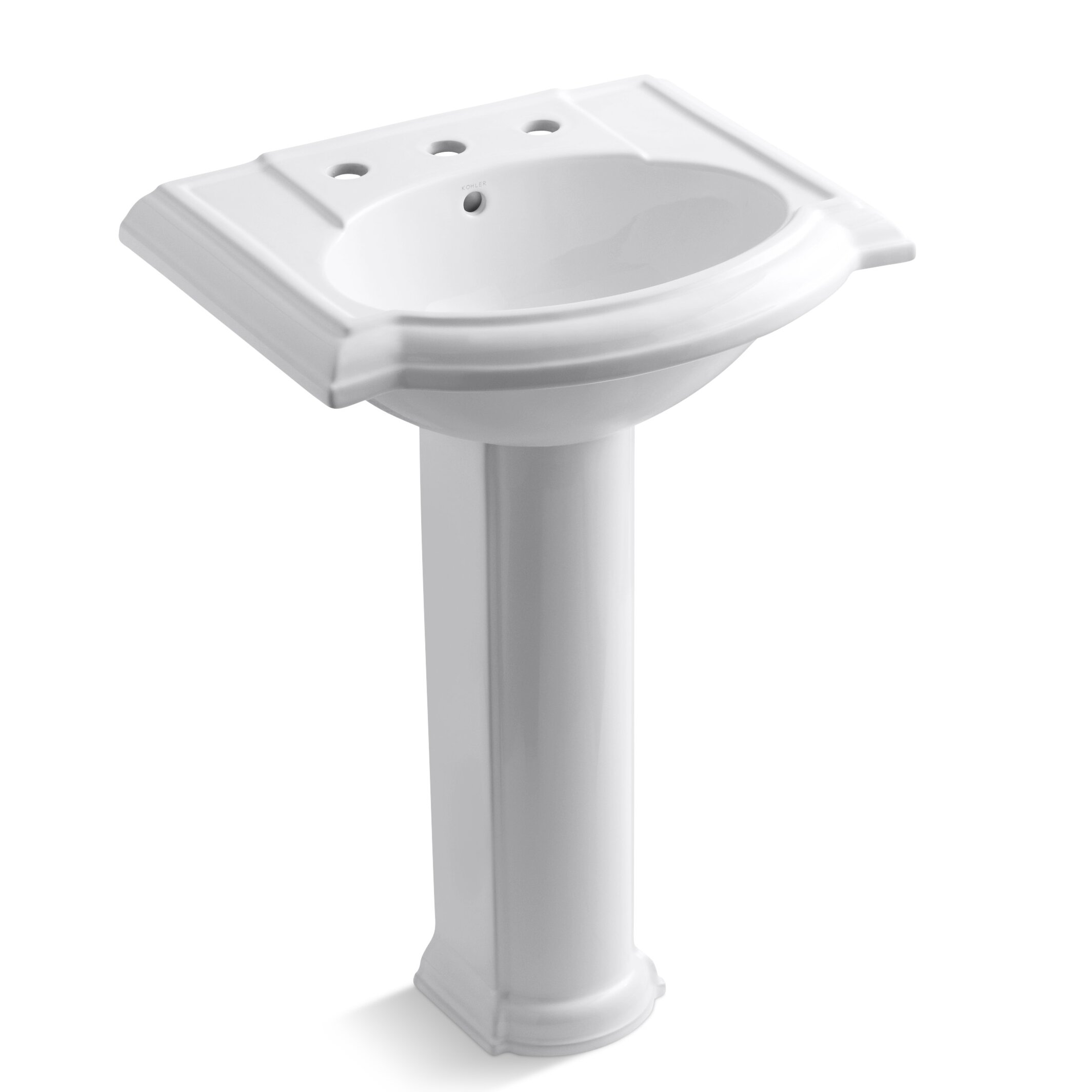 Kohler Devonshire 24 quot  Pedestal Bathroom Sink. Kohler Devonshire 24  Pedestal Bathroom Sink   Reviews   Wayfair